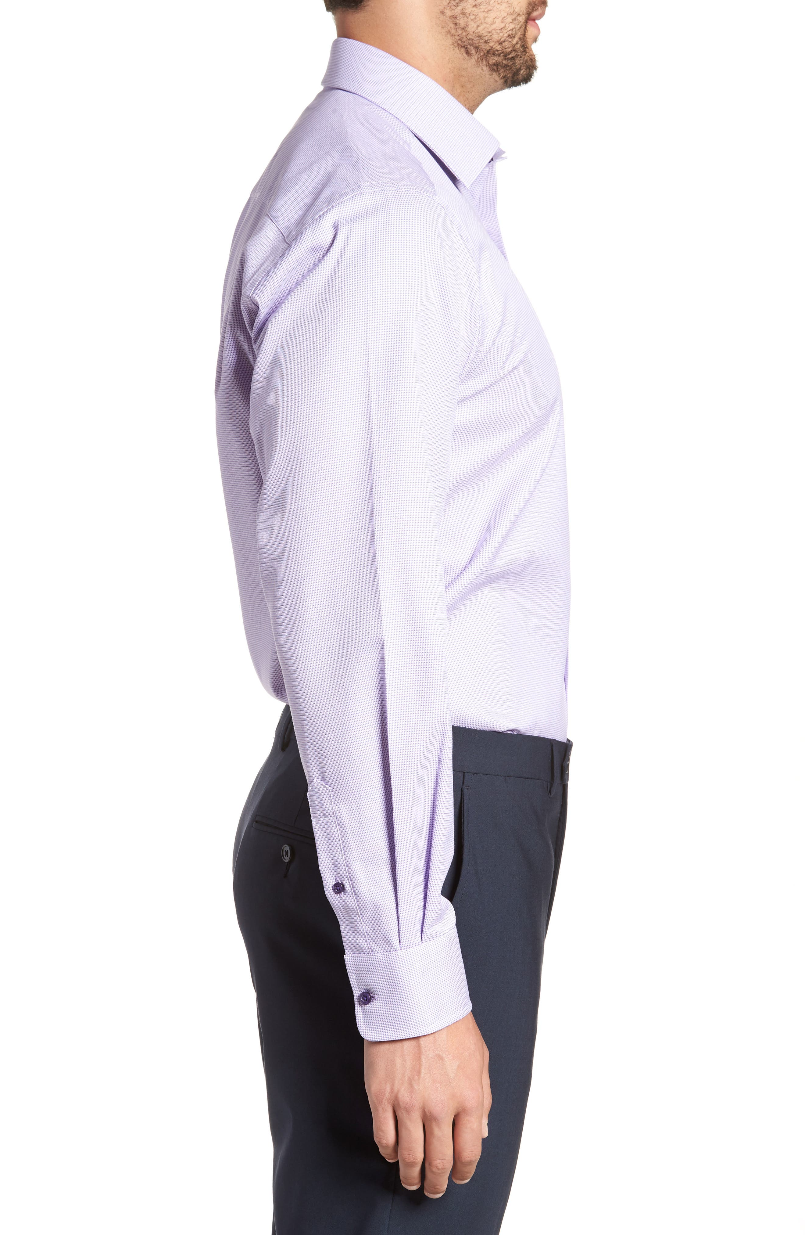 Regular Fit Solid Dress Shirt,                             Alternate thumbnail 4, color,                             Lilac