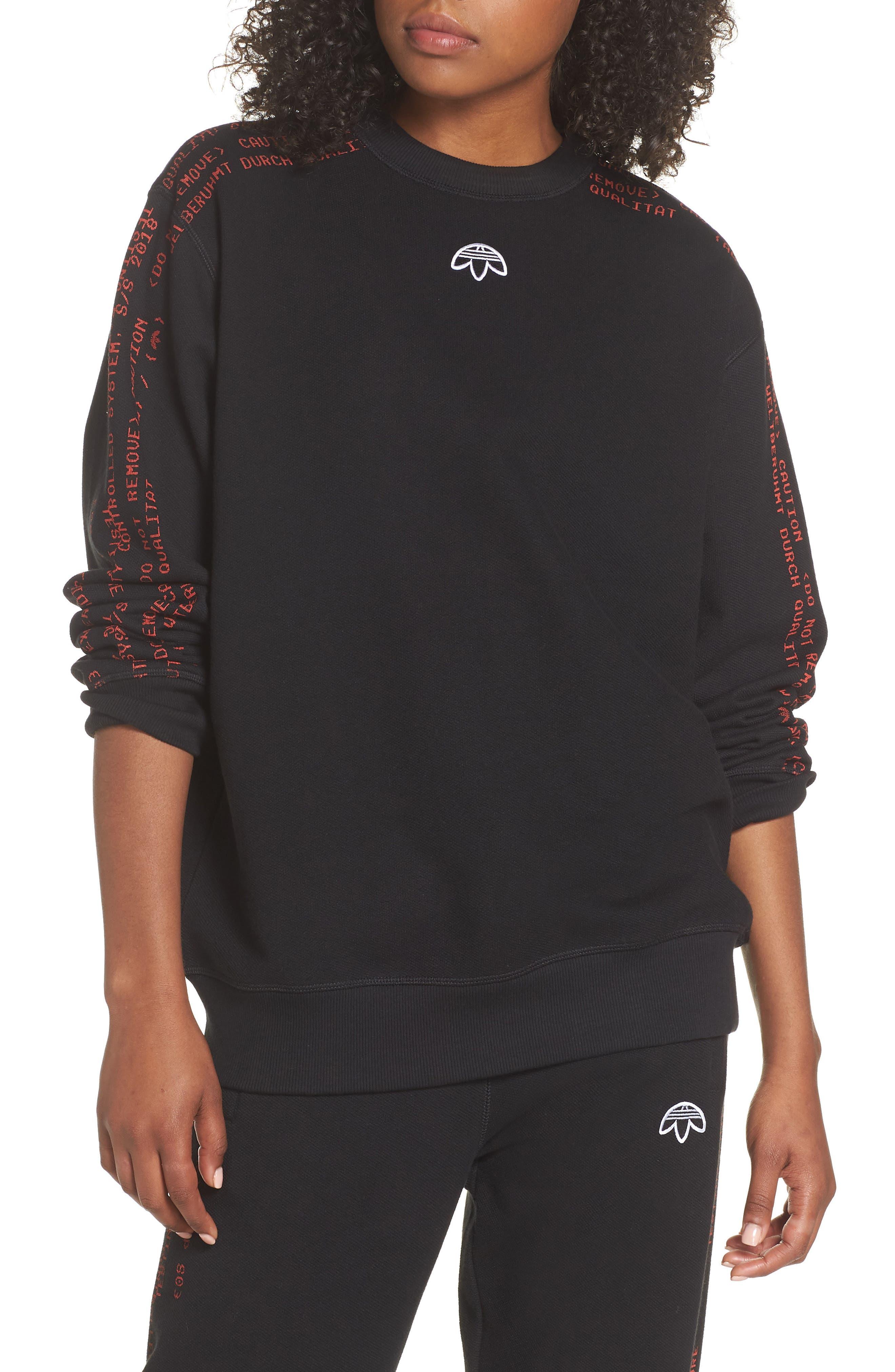Sweatshirt,                             Main thumbnail 1, color,                             Black/ Core Red