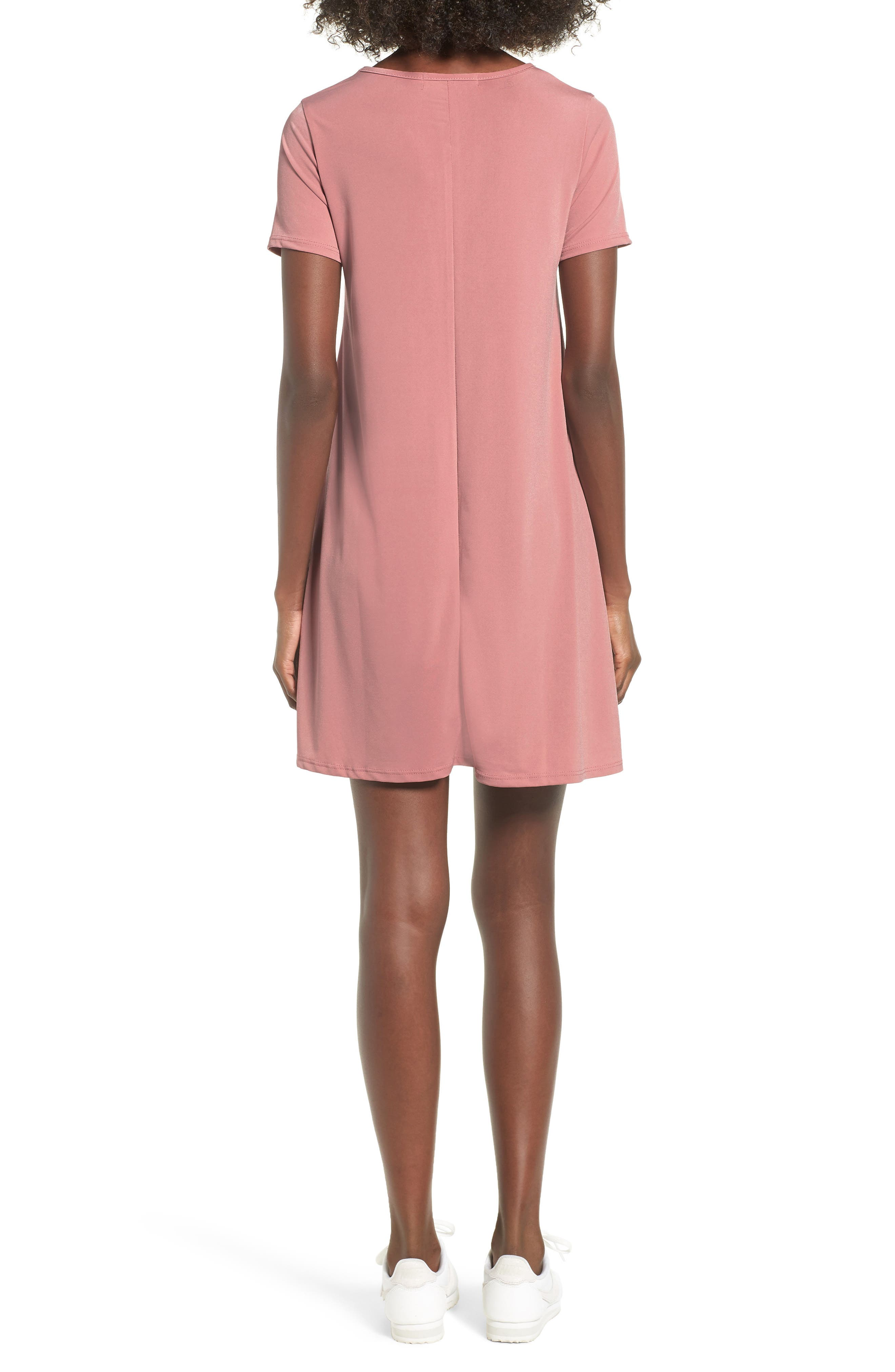Swing T-Shirt Dress,                             Alternate thumbnail 2, color,                             Rose