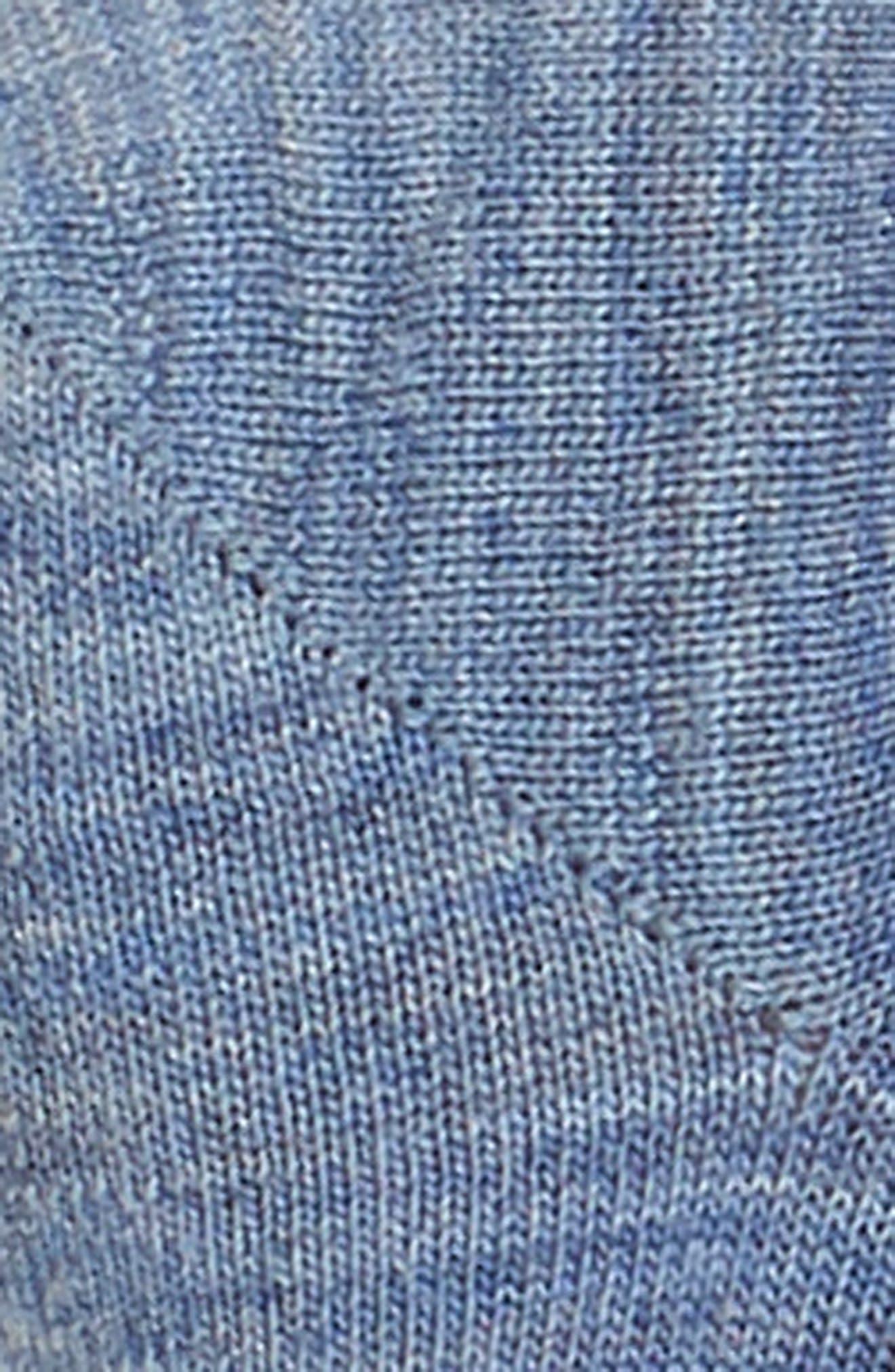 'Hide and Seek' No-Show Socks,                             Alternate thumbnail 2, color,                             Blue Steel