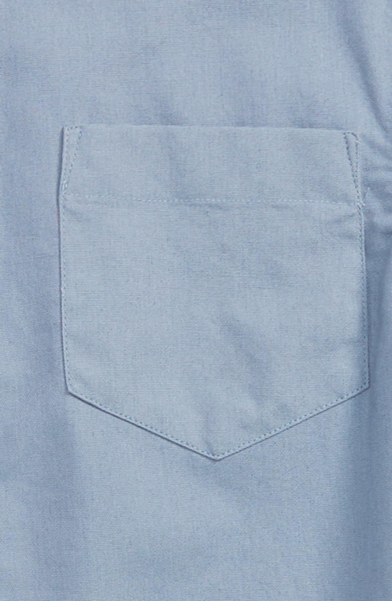 Knit & Woven Shirt,                             Alternate thumbnail 2, color,                             Blue Stonewash