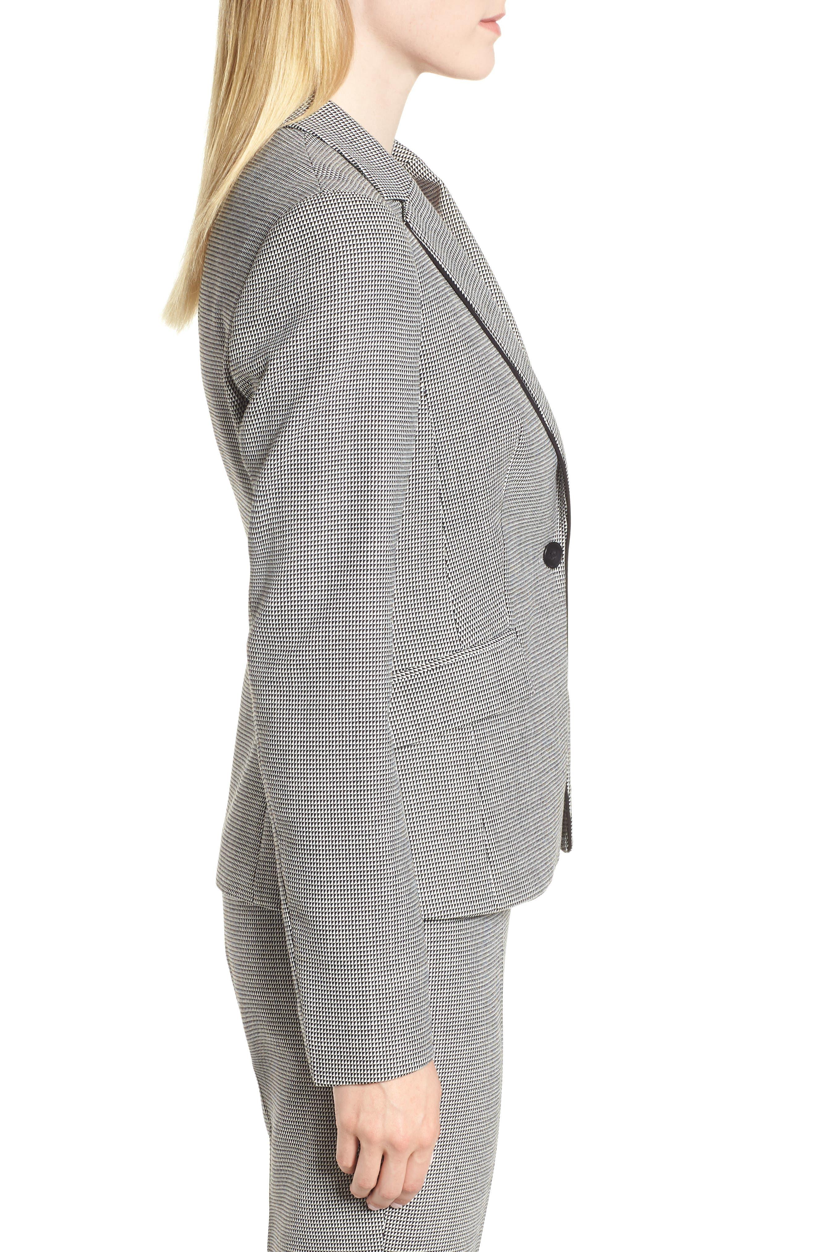Jorita Wool Blend Suit Jacket,                             Alternate thumbnail 3, color,                             Black Fantasy