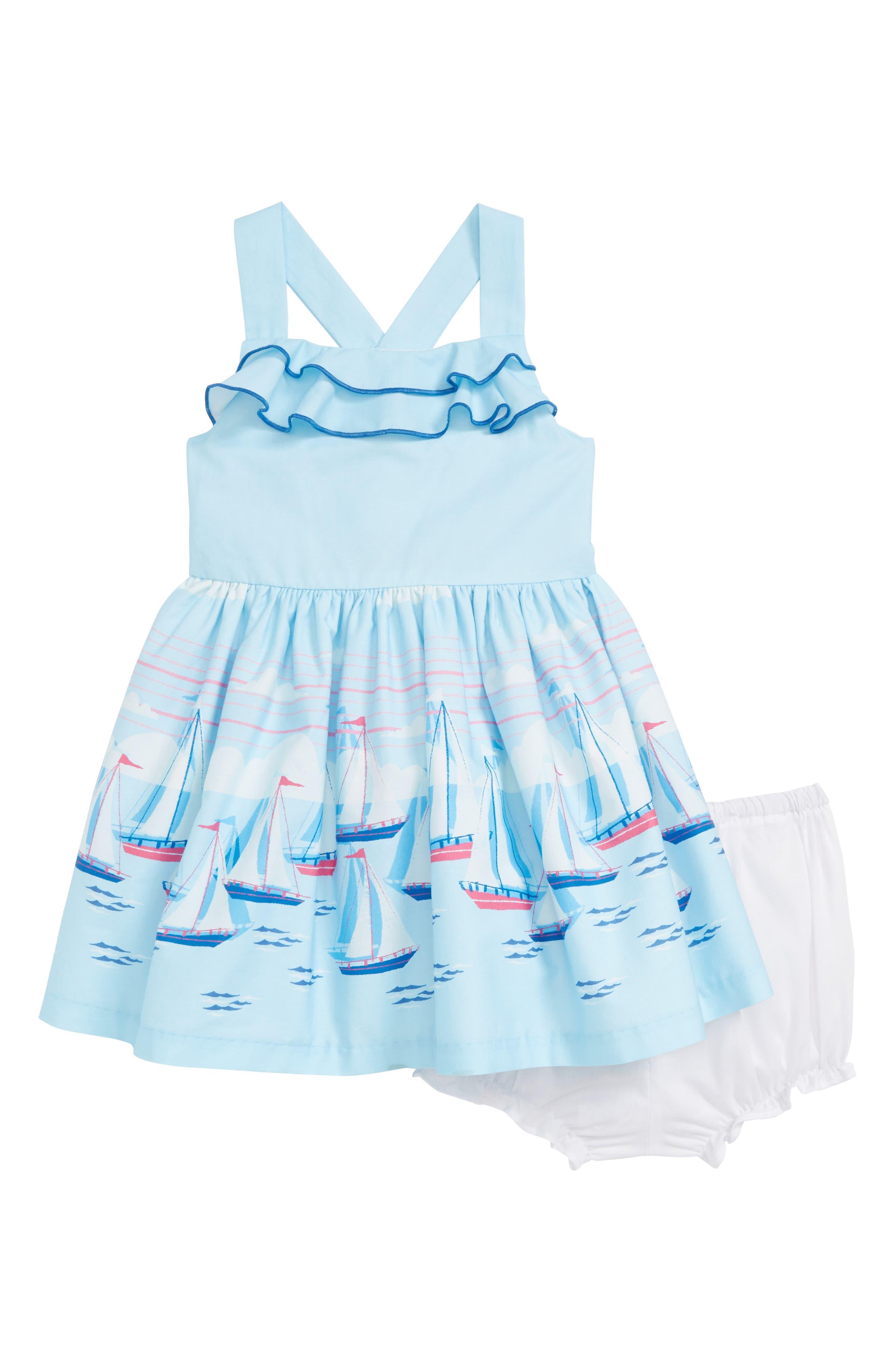 Sailboat Dress,                             Main thumbnail 1, color,                             Blue