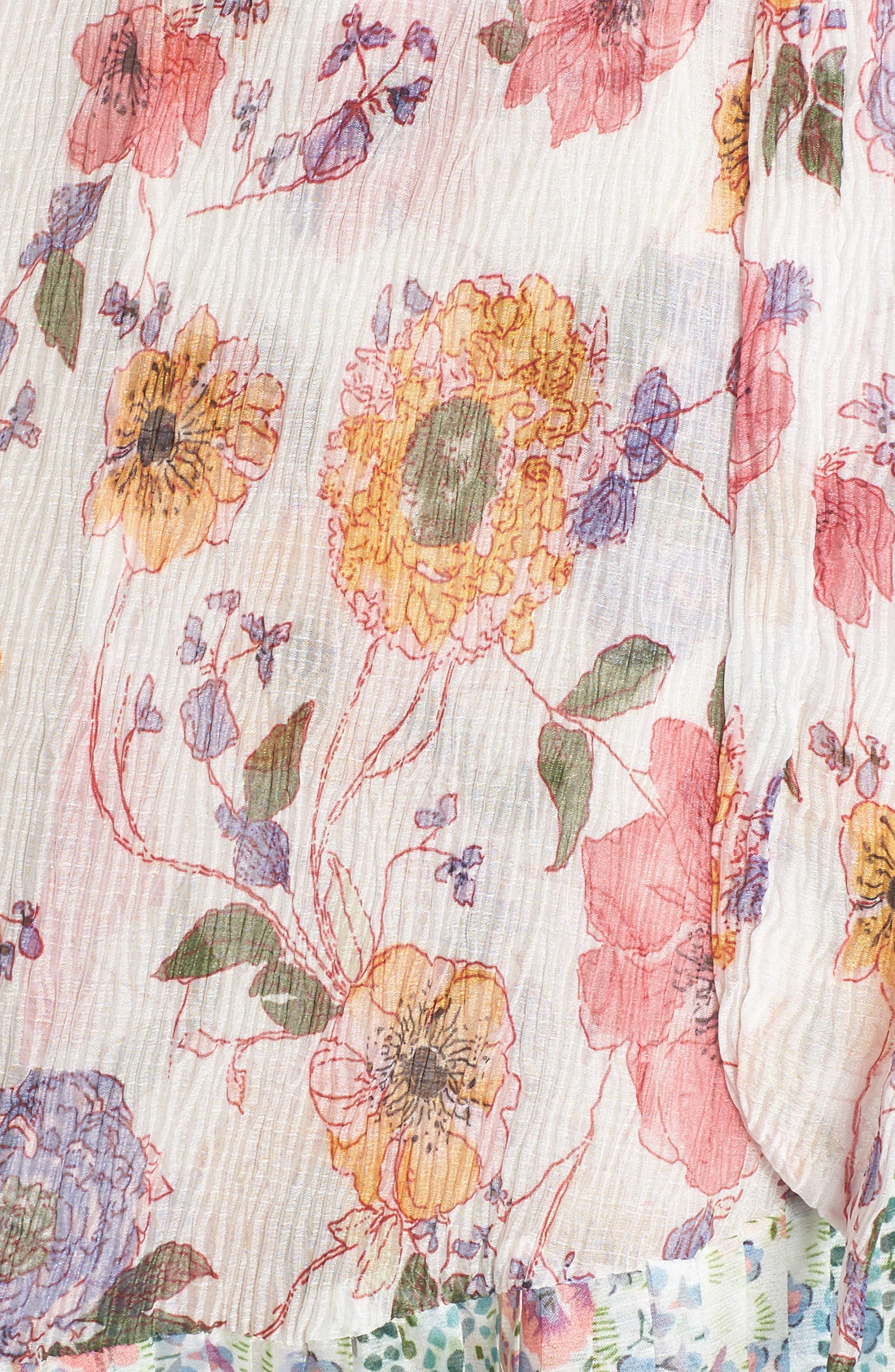 Furiosa Cold Shoulder Dress,                             Alternate thumbnail 6, color,                             Furiosa Multi