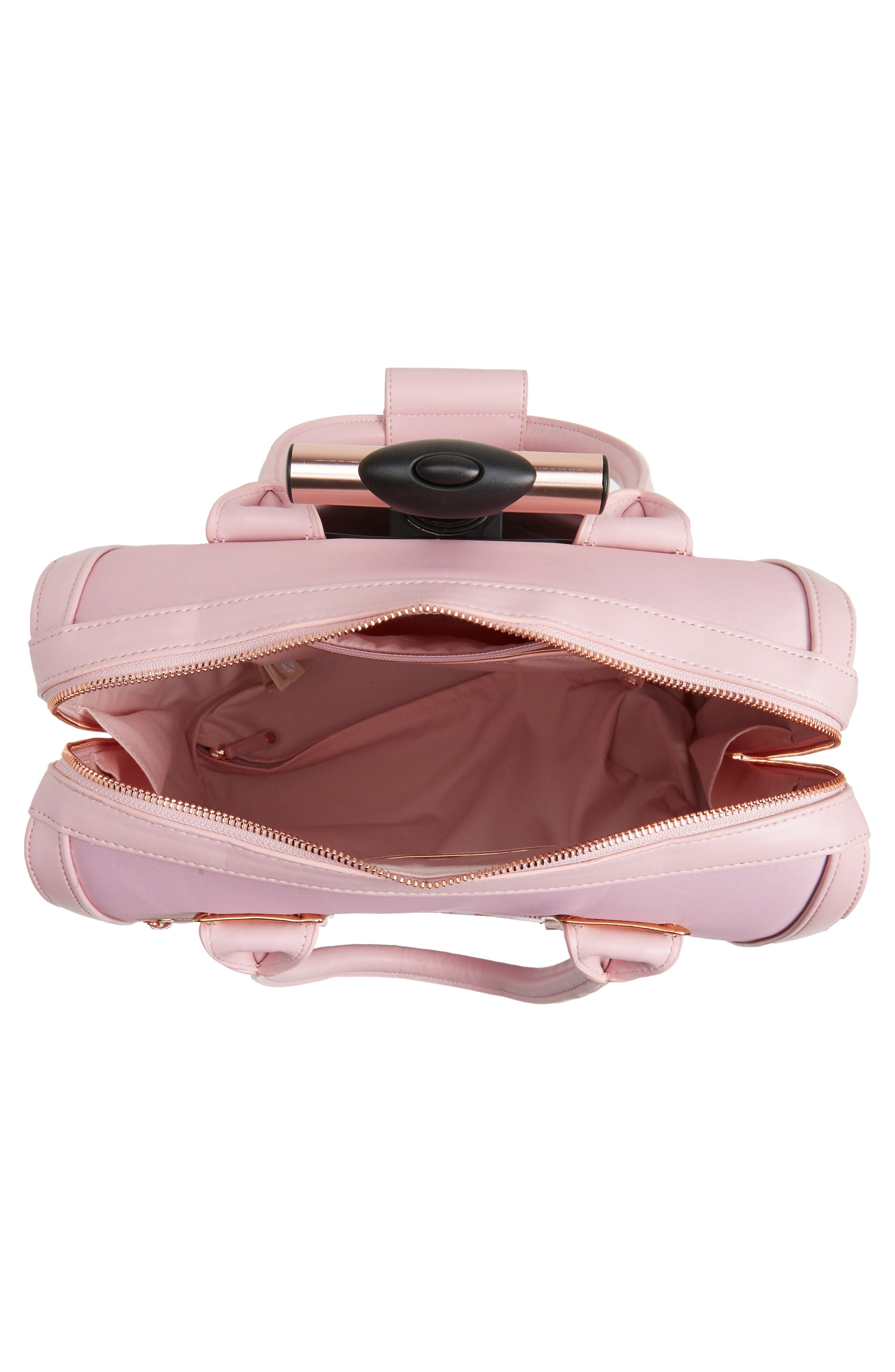 Caliie Harmony Rolling Faux Leather Travel Bag,                             Alternate thumbnail 2, color,                             Pale Pink