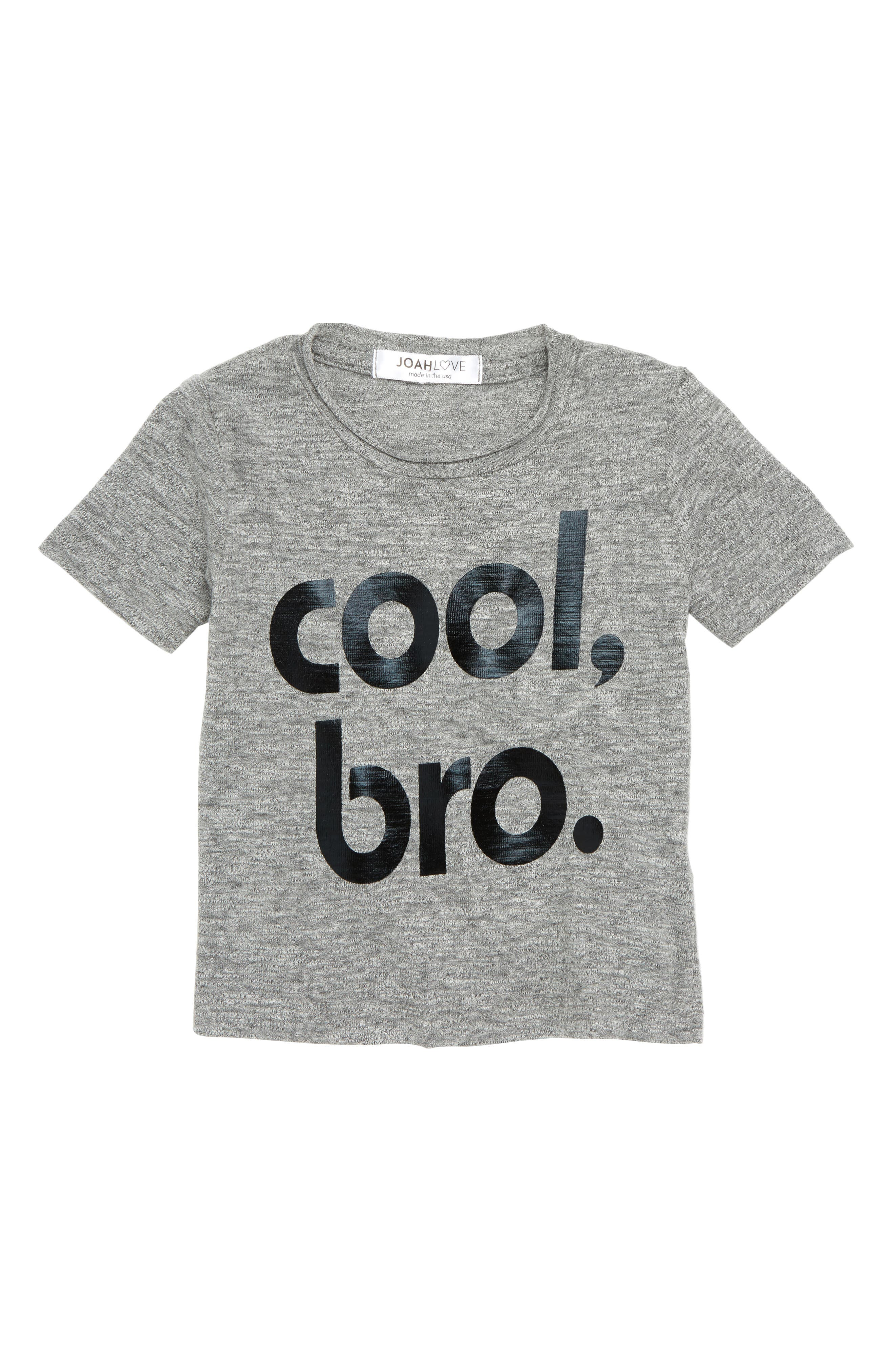 Cool Bro T-Shirt,                             Main thumbnail 1, color,                             Grey