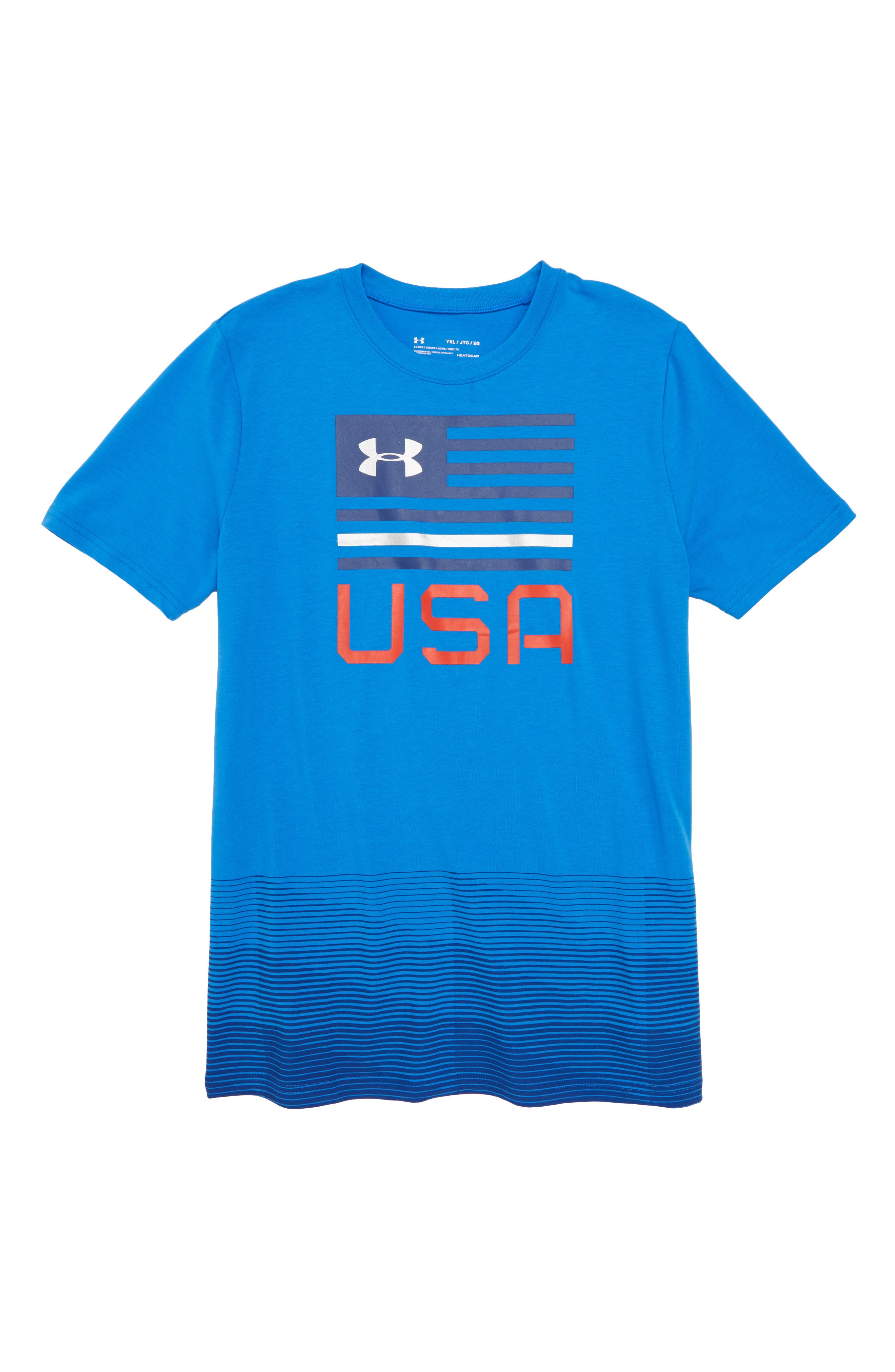 Under Armour Americana USA HeatGear® Graphic T-Shirt (Big Boys)