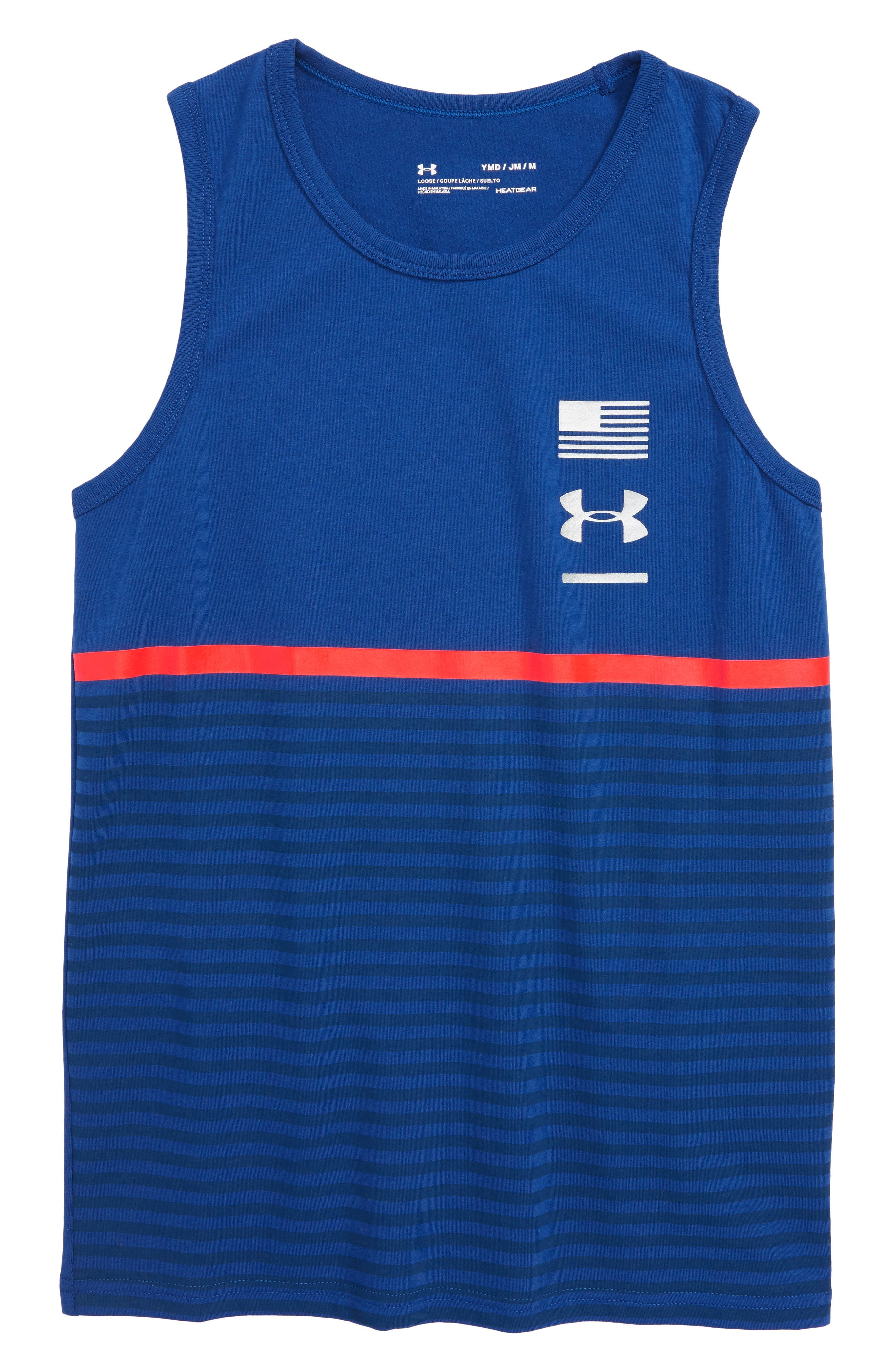 Under Armour Americana Stripes HeatGear® Tank (Big Boys)