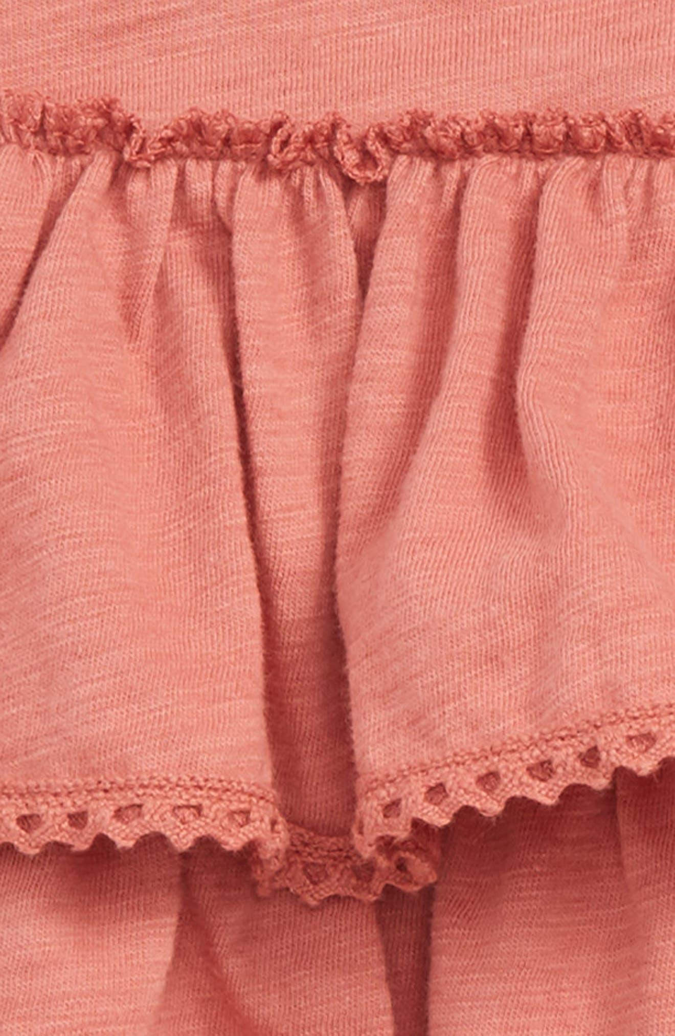 Peek Chloe Tiered Ruffle Bodysuit,                             Alternate thumbnail 2, color,                             Rust