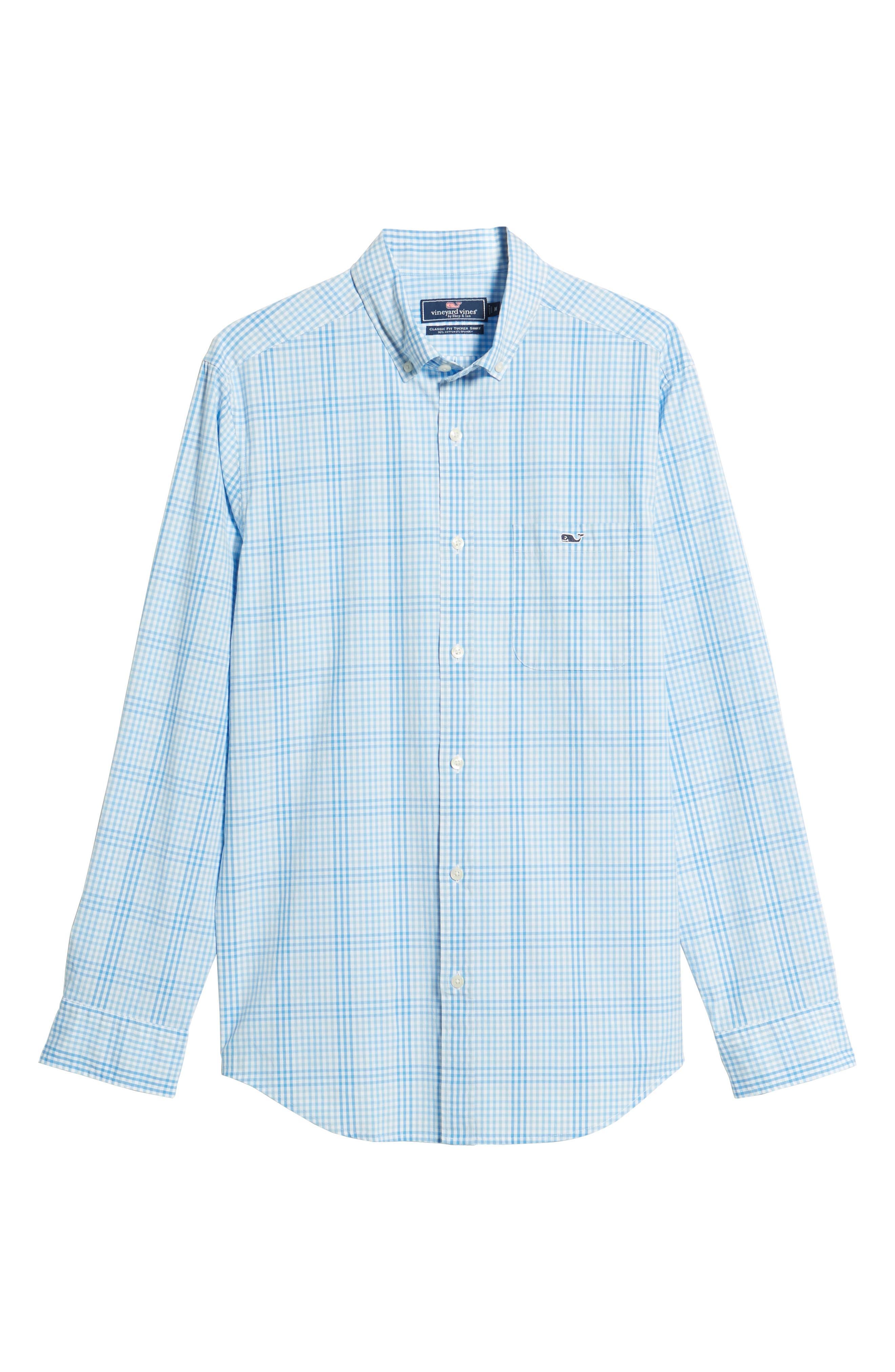 Ridge Hill Classic Fit Check Sport Shirt,                             Alternate thumbnail 6, color,                             Harbor Cay