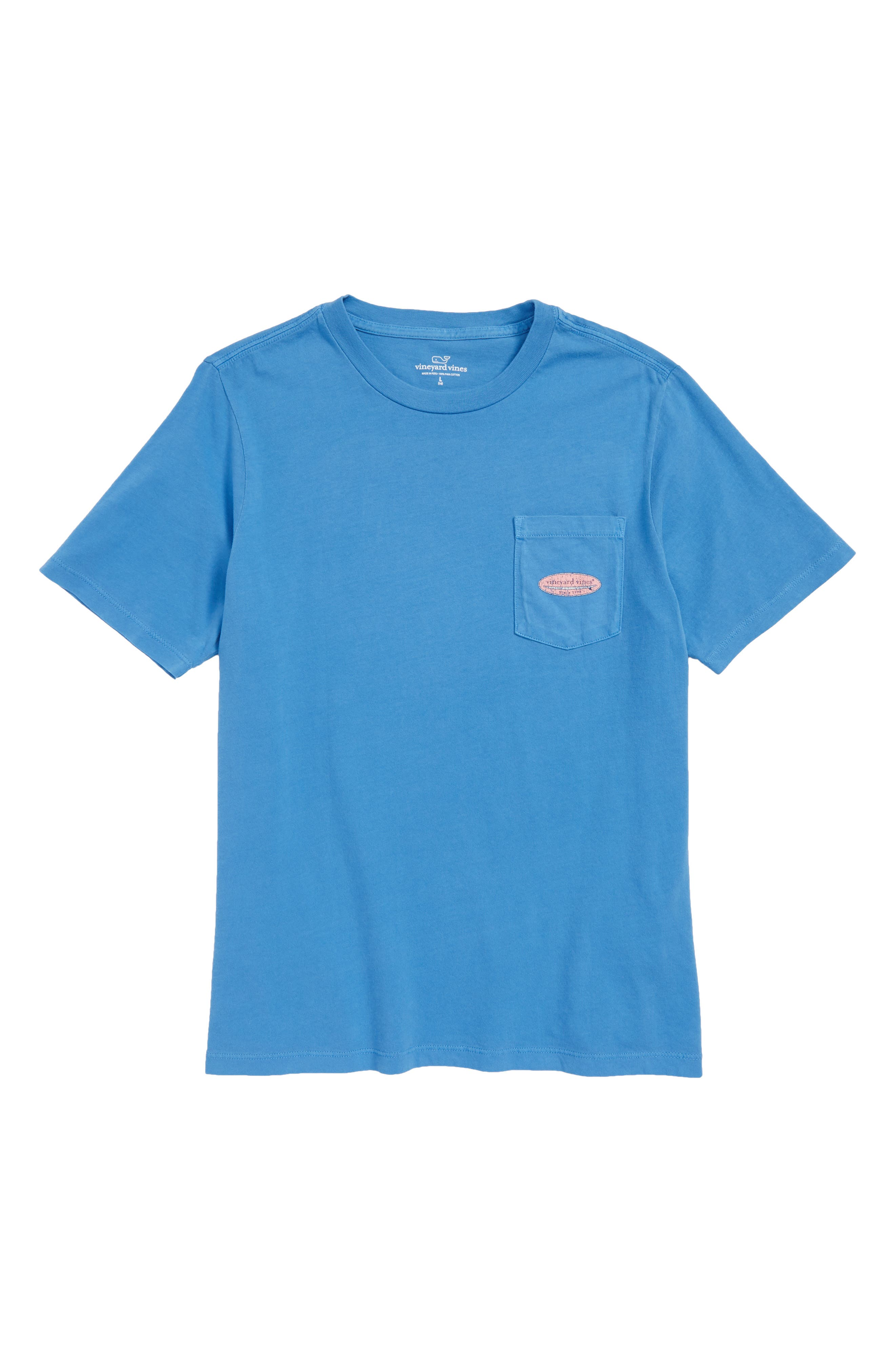 Surf Logo Pocket T-Shirt,                         Main,                         color, Hull Blue