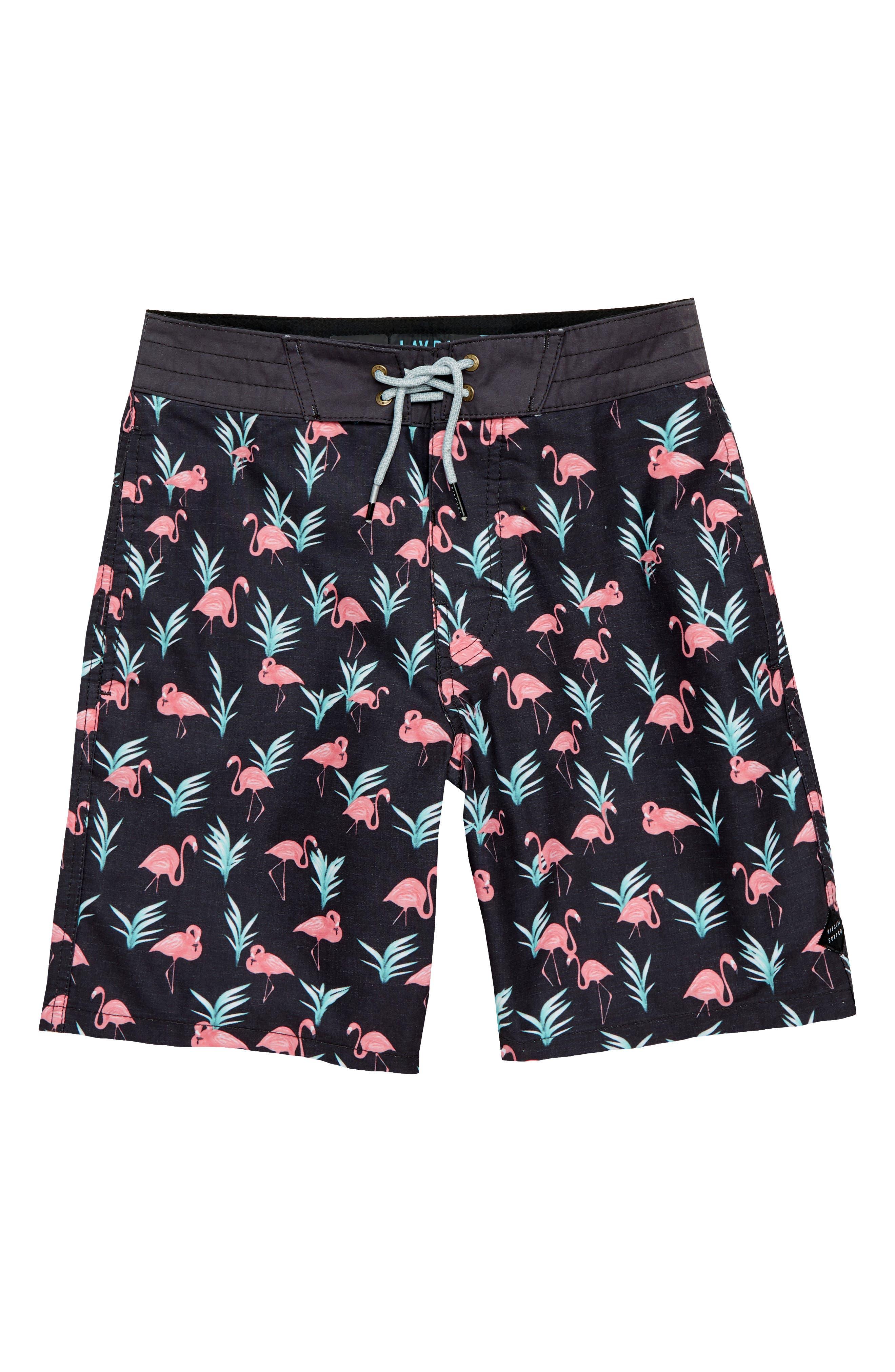 Flamingo Layday Board Shorts,                         Main,                         color, Black