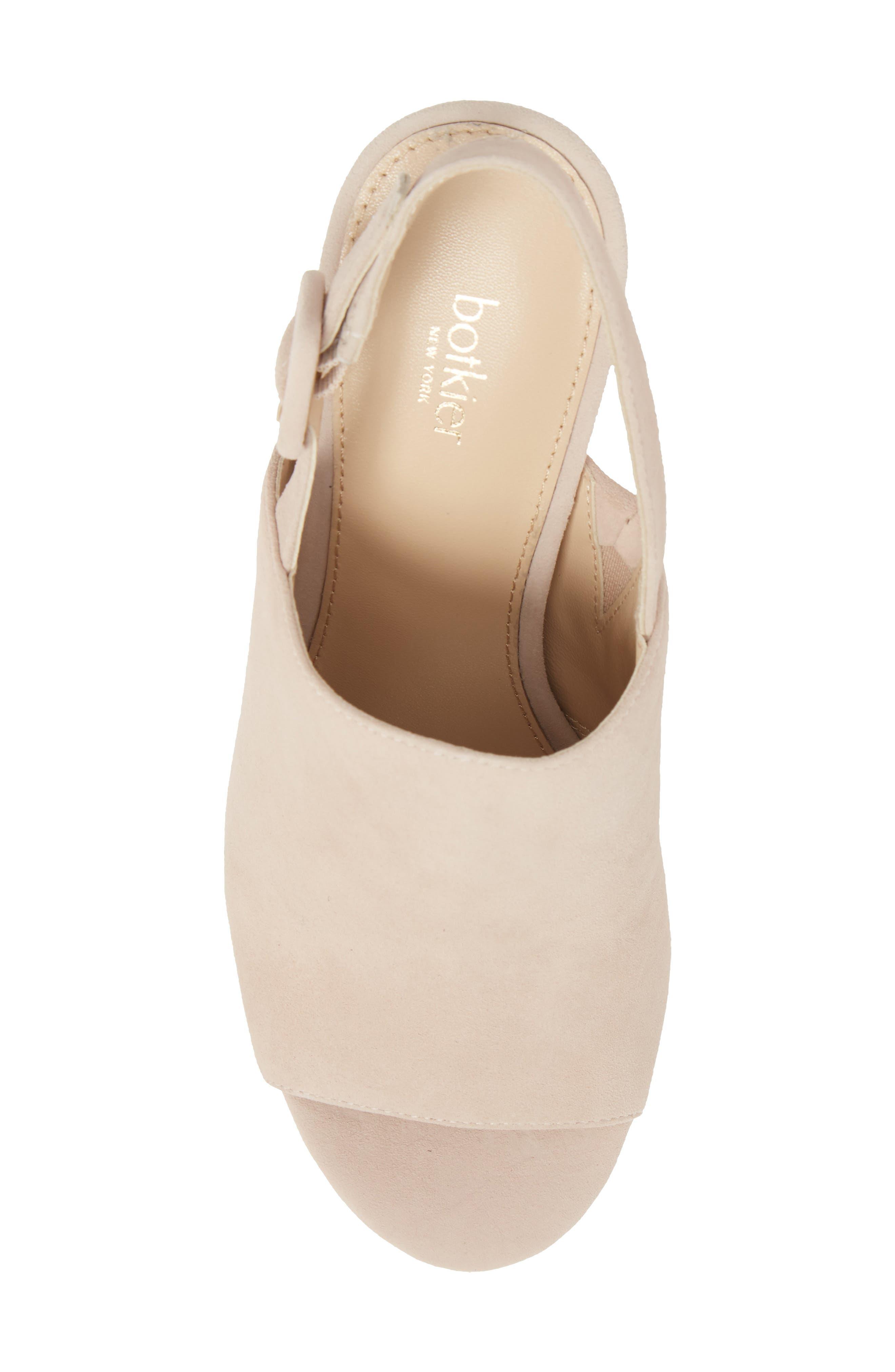 Jolene Platform Sandal,                             Alternate thumbnail 5, color,                             Blush Suede