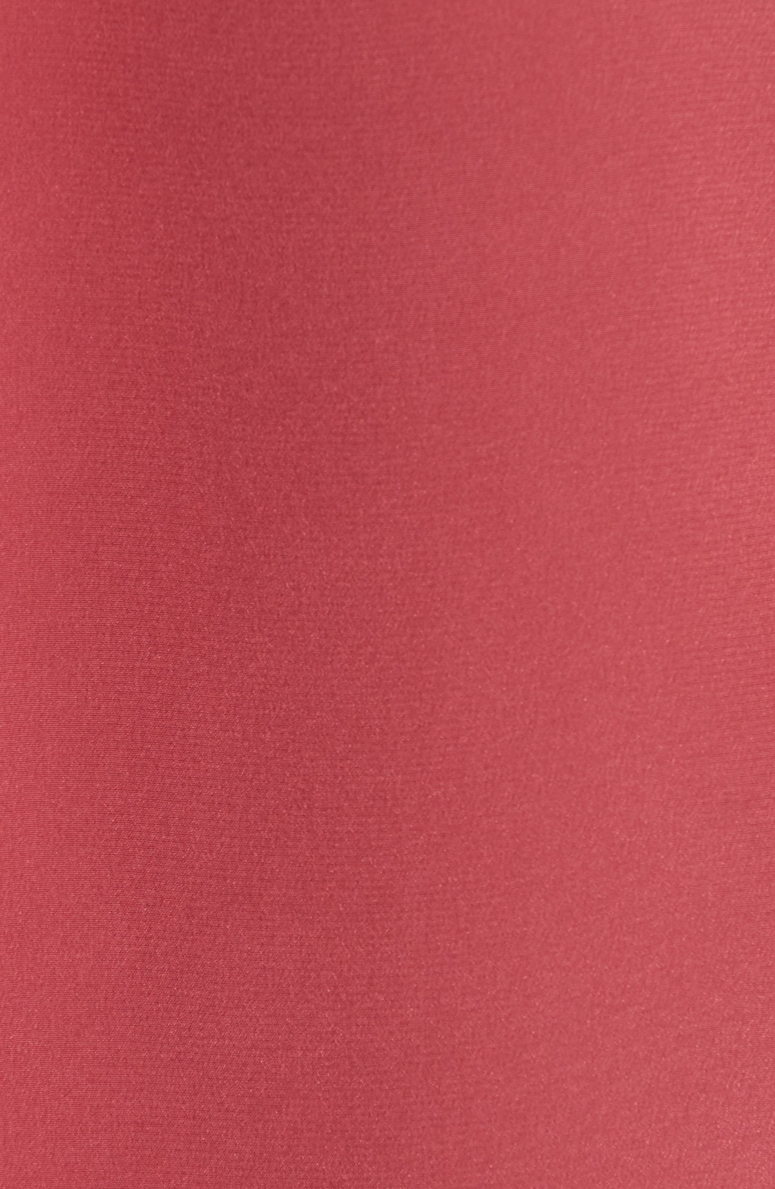 Keira Piped Silk Shirt,                             Alternate thumbnail 3, color,                             Pinot Noir