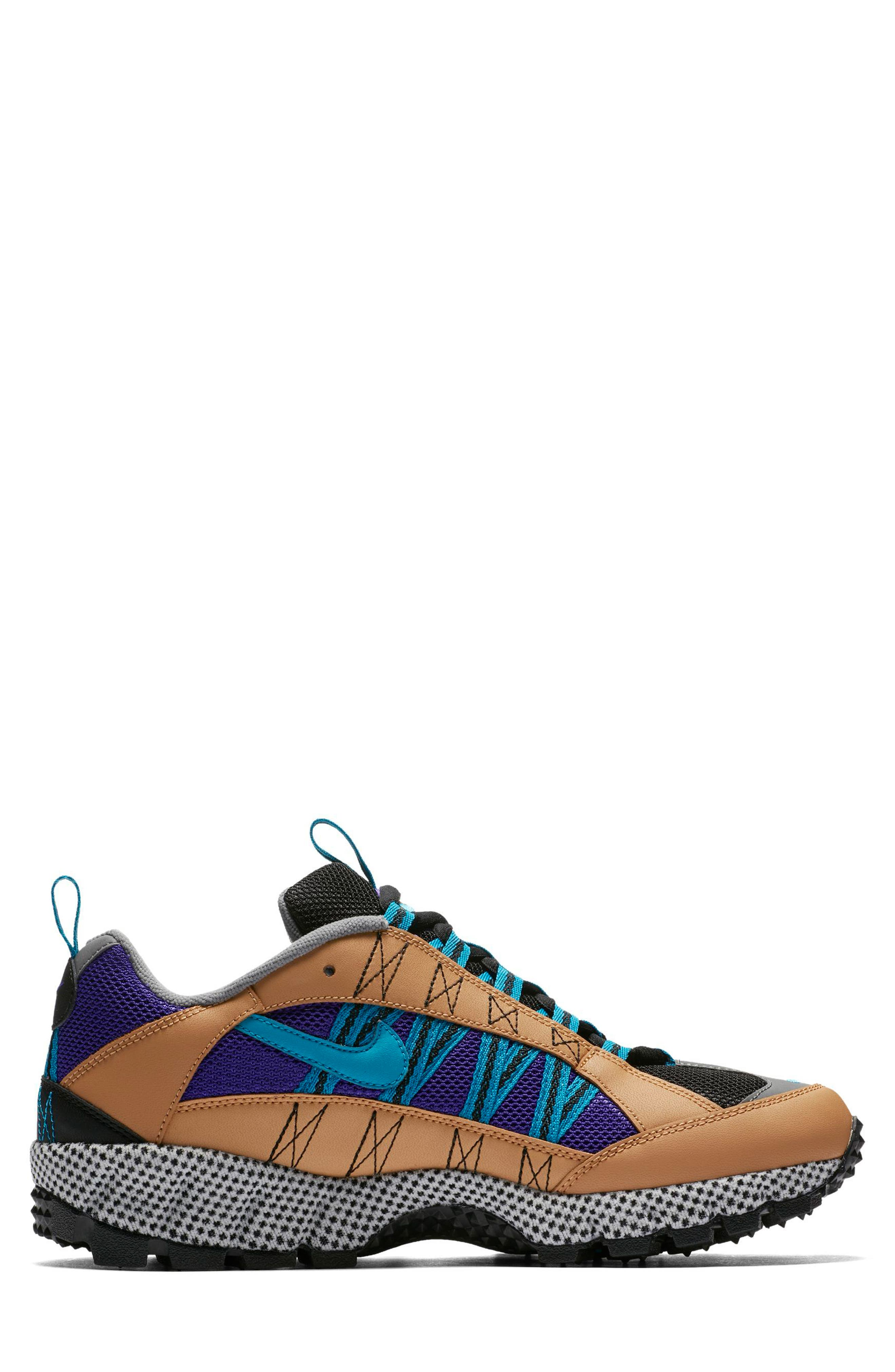 Air Humara 17 QS Sneaker,                             Alternate thumbnail 5, color,                             Gold/ Turquoise-Purple