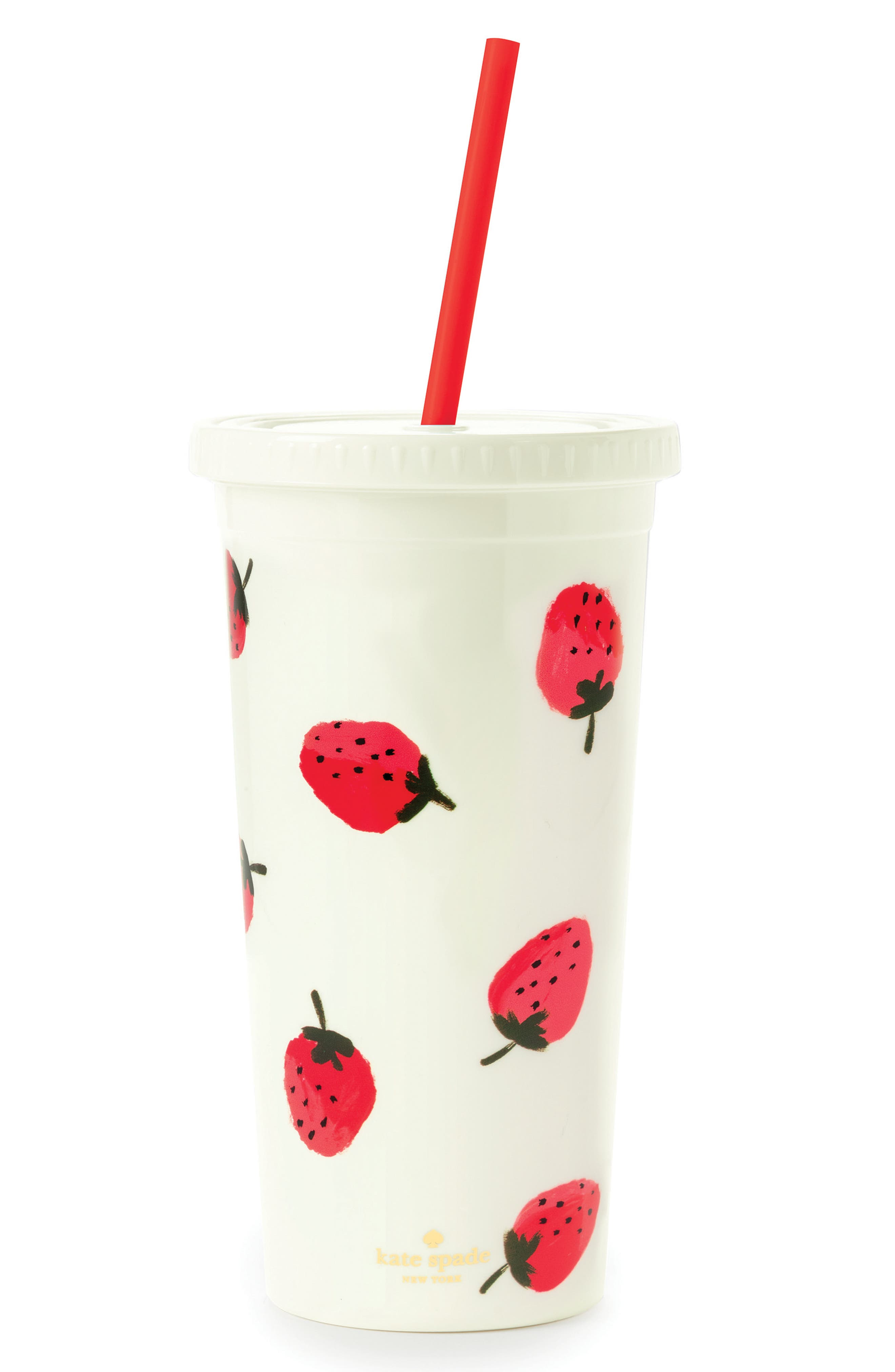 strawberries insulated tumbler,                         Main,                         color, Strawberry