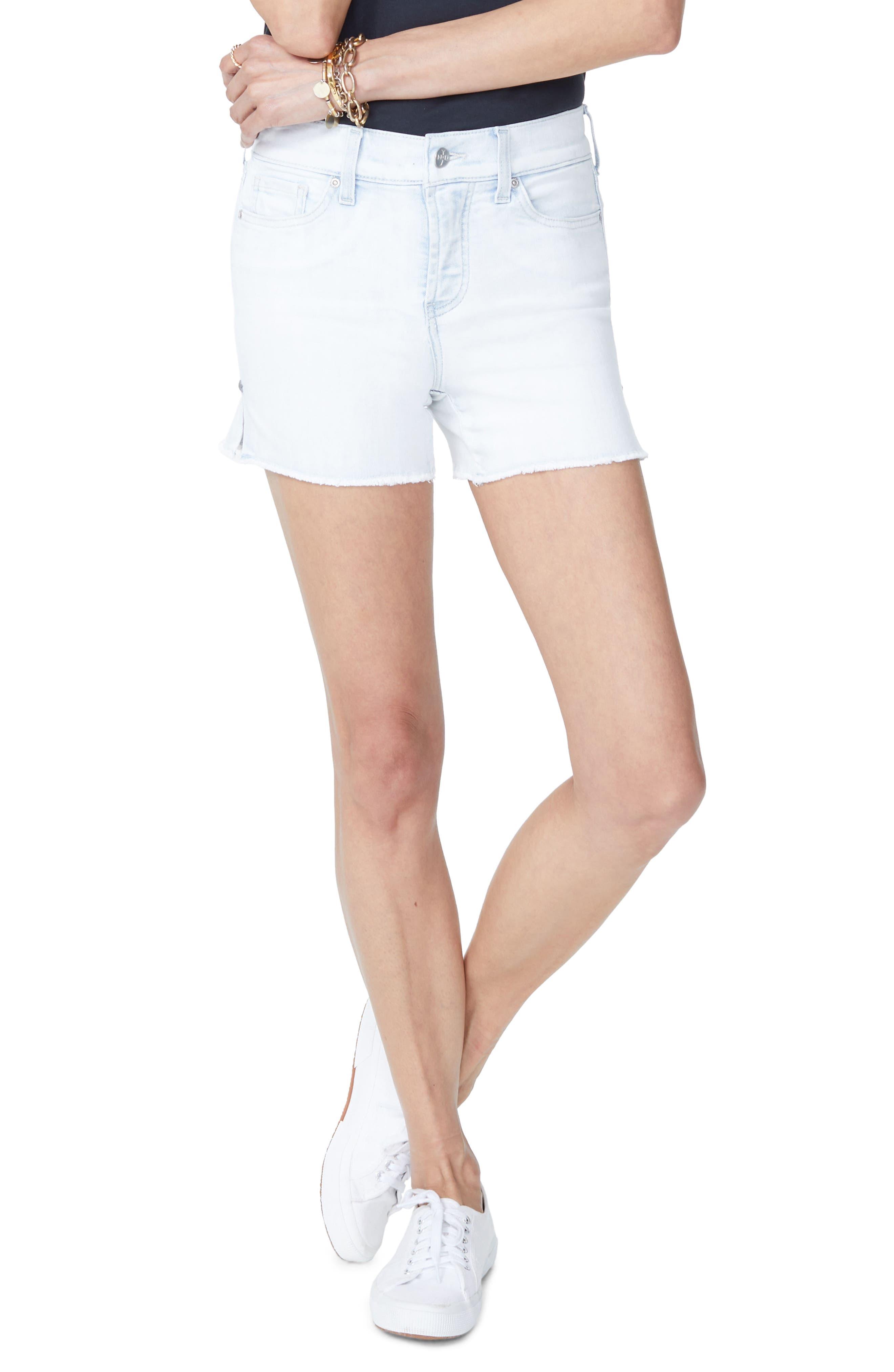Star Rivet Cutoff Shorts,                         Main,                         color, Serenity