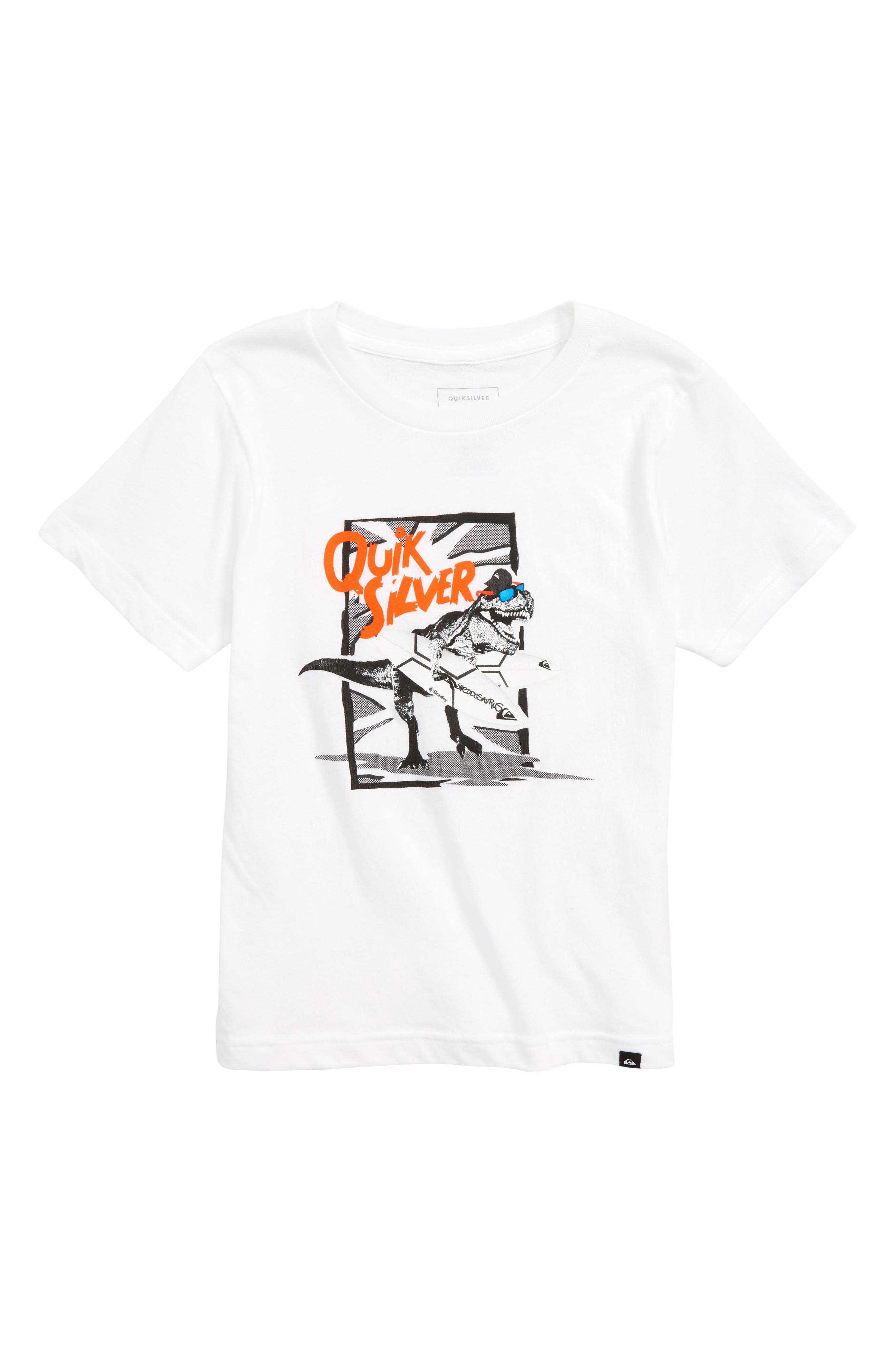 Shreddosaurus Graphic T-Shirt,                             Main thumbnail 1, color,                             White