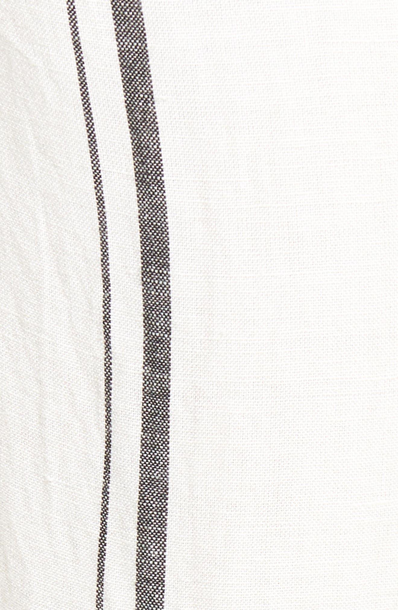 Annika Stripe Crop Pants,                             Alternate thumbnail 6, color,                             Black/ White