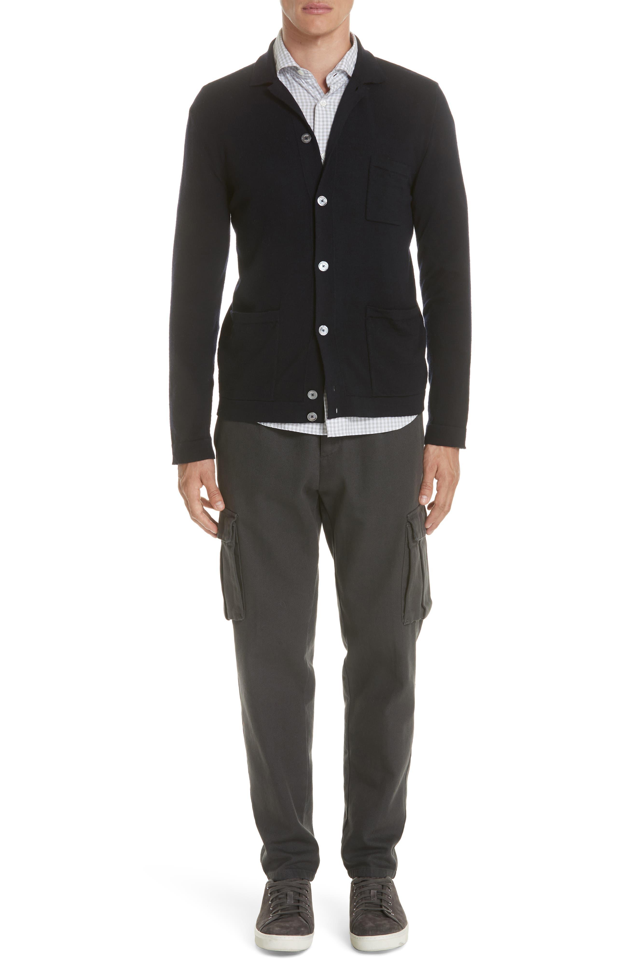 Slim Fit Check Dress Shirt,                             Alternate thumbnail 8, color,                             Light Grey