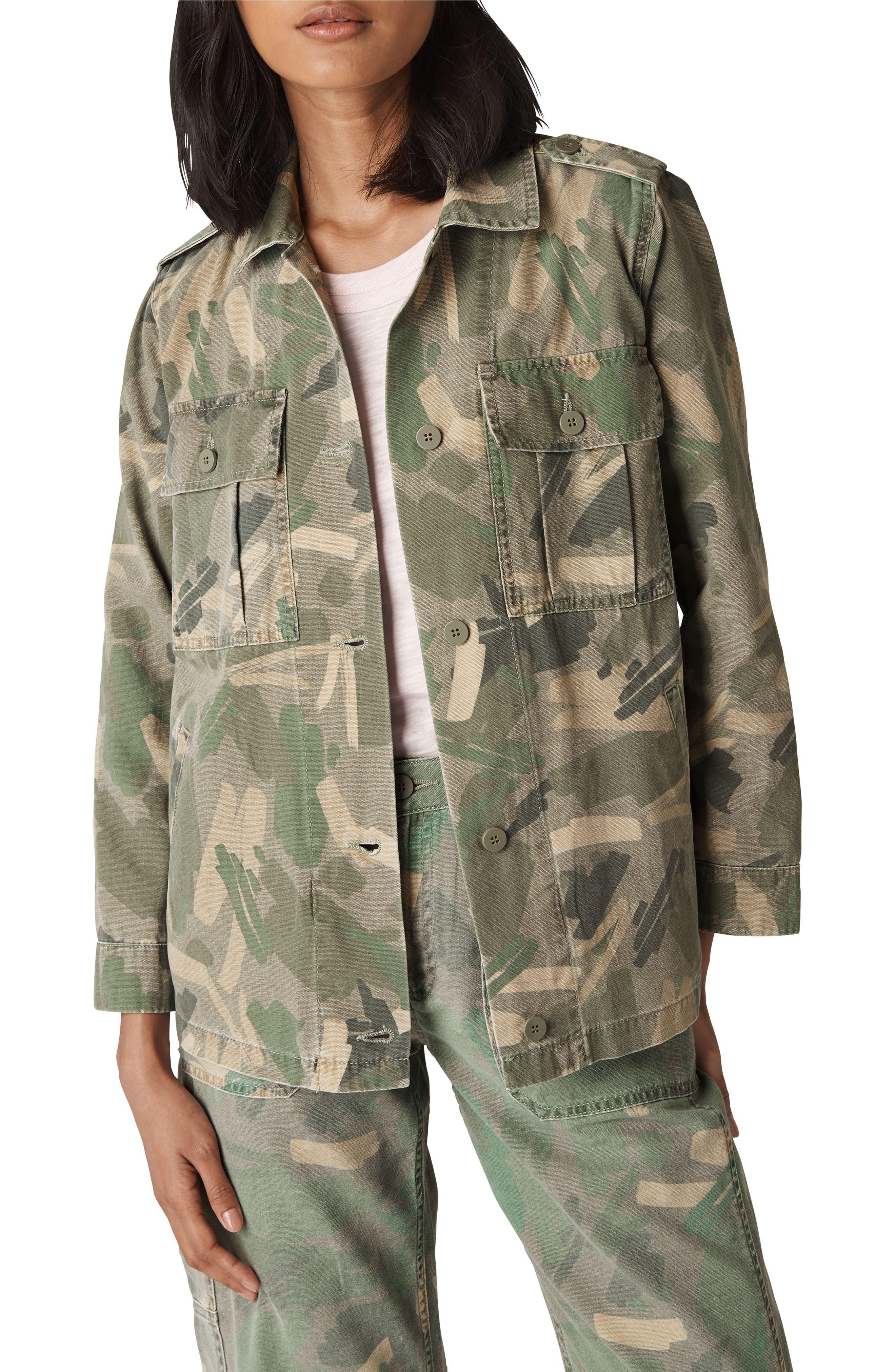 Longline Camo Utility Jacket,                         Main,                         color, Multicolor