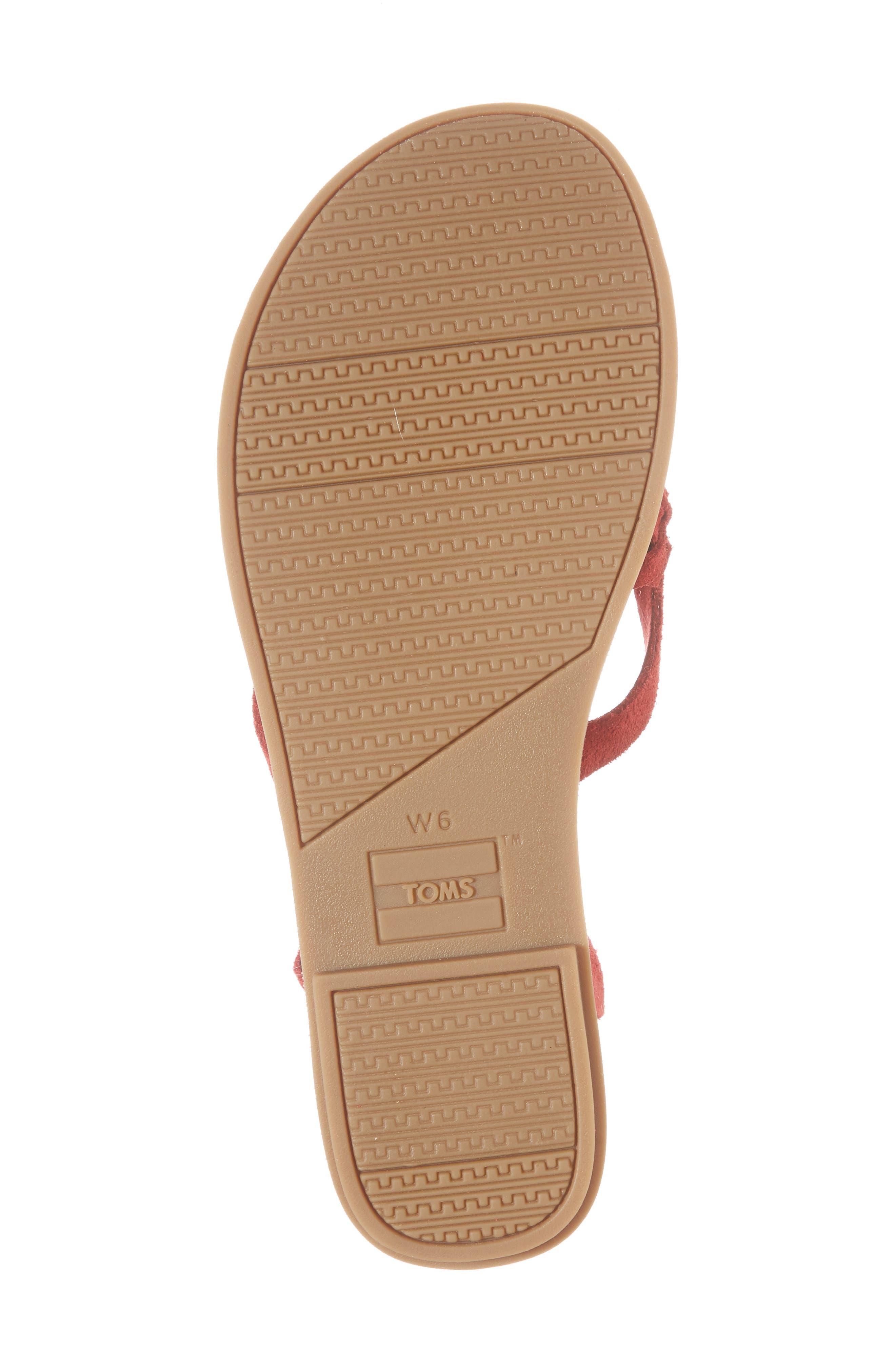 'Lexie' Sandal,                             Alternate thumbnail 6, color,                             Red Suede