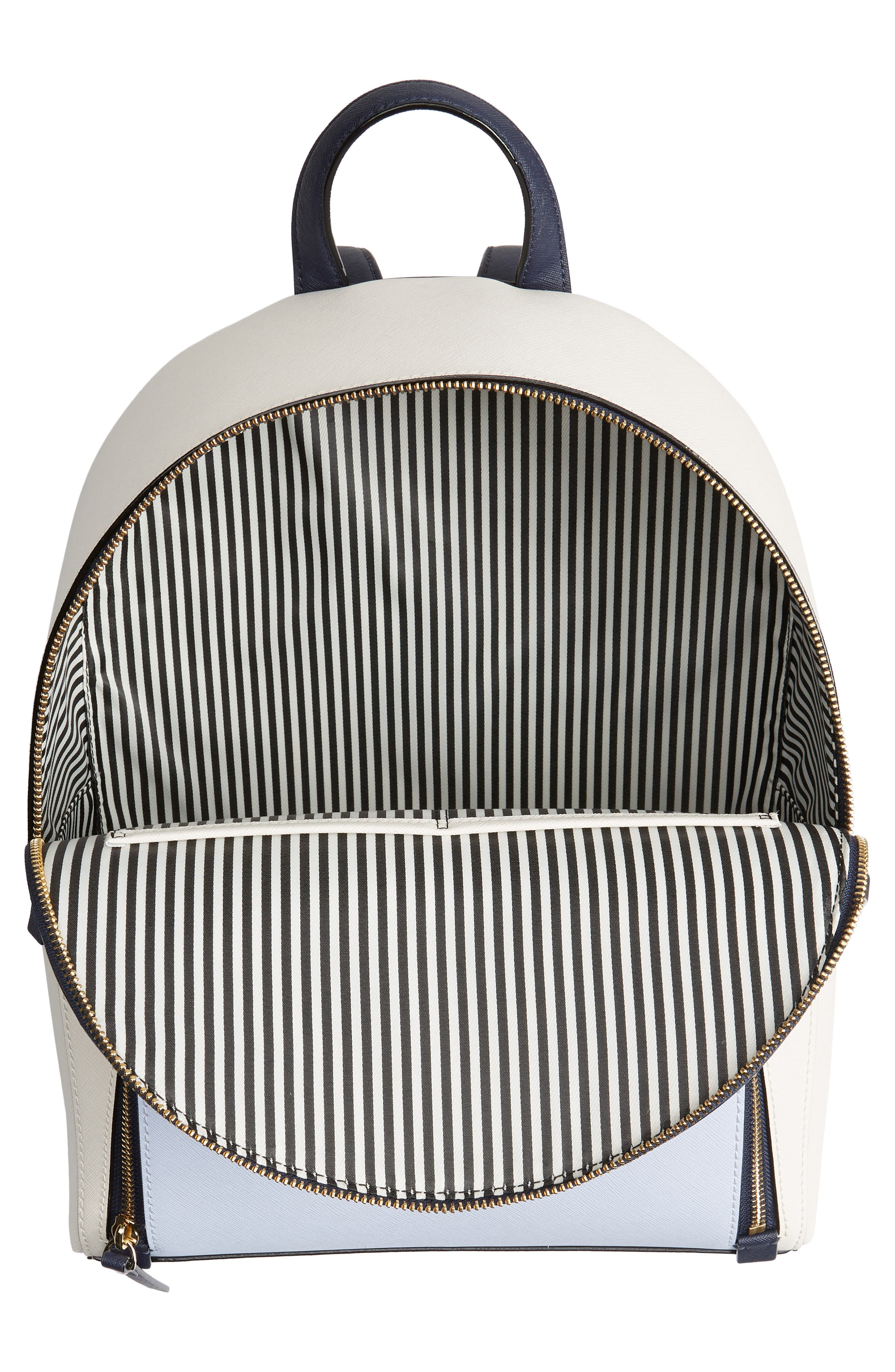 cameron street – hartley leather backpack,                             Alternate thumbnail 4, color,                             Cement/ Morning Multi
