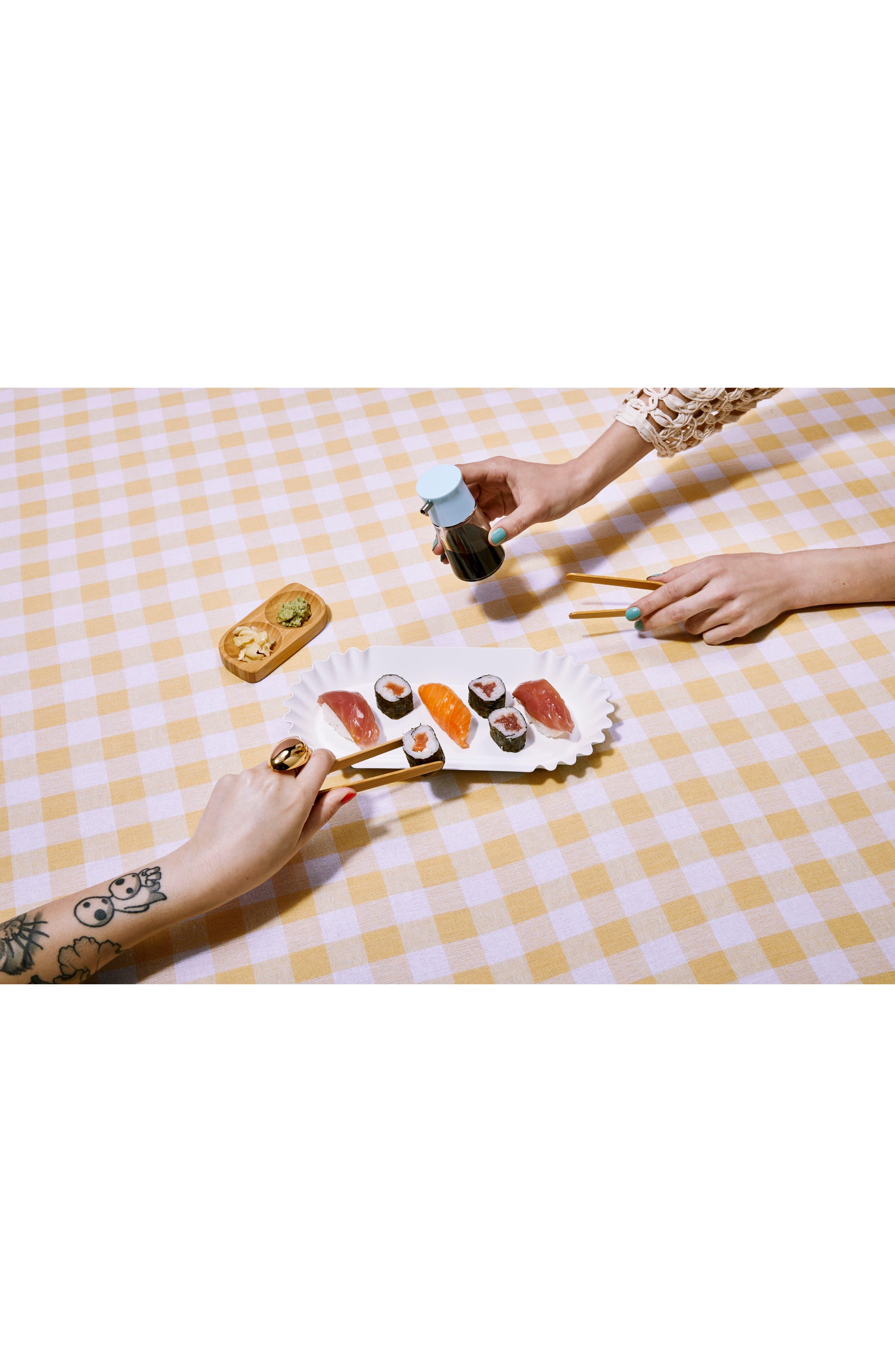 3-Piece Bamboo Sushi Tray & Songs Set,                             Alternate thumbnail 2, color,                             Natural