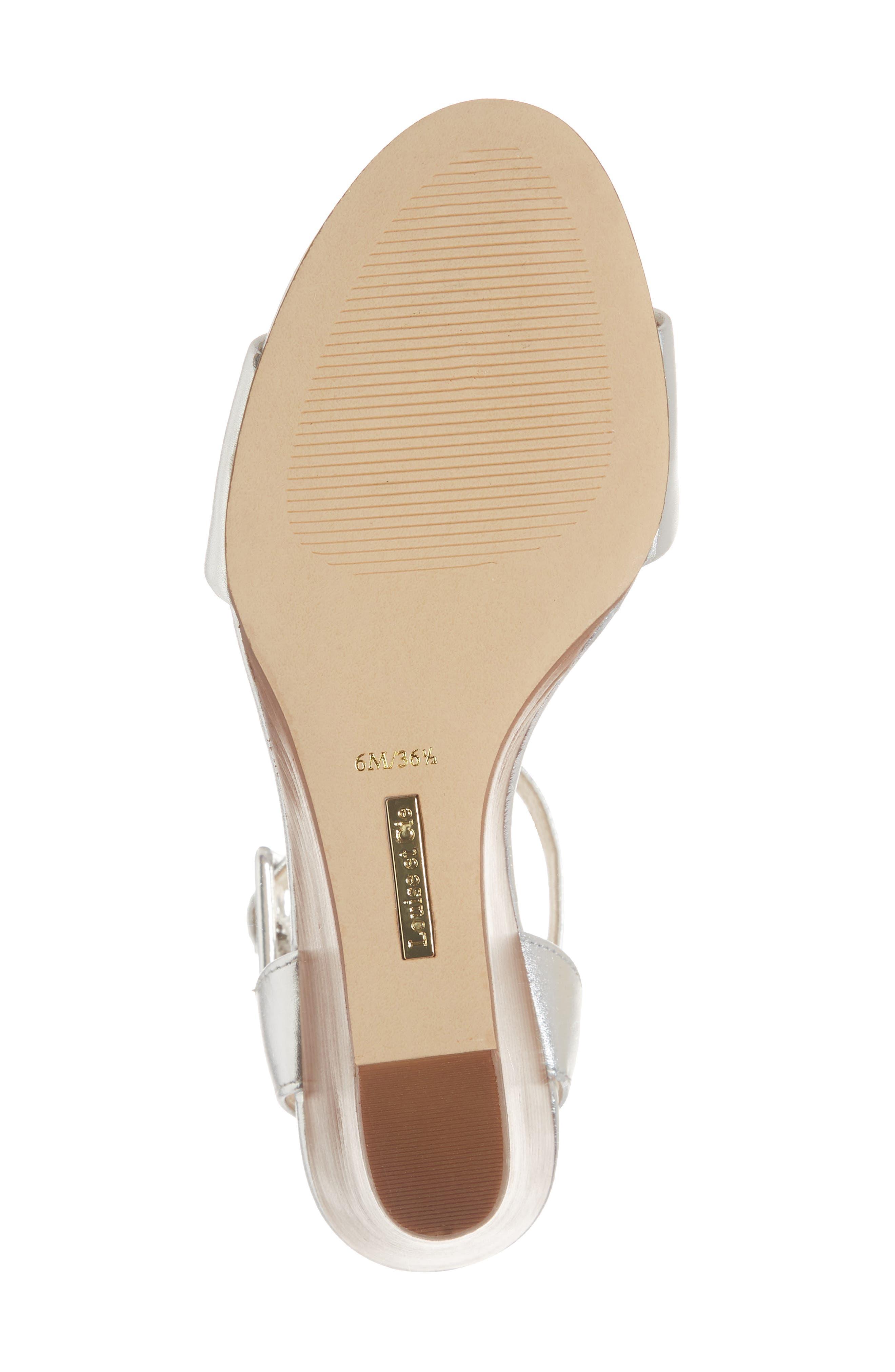 Punya Wedge Sandal,                             Alternate thumbnail 6, color,                             Metallic Silver Leather