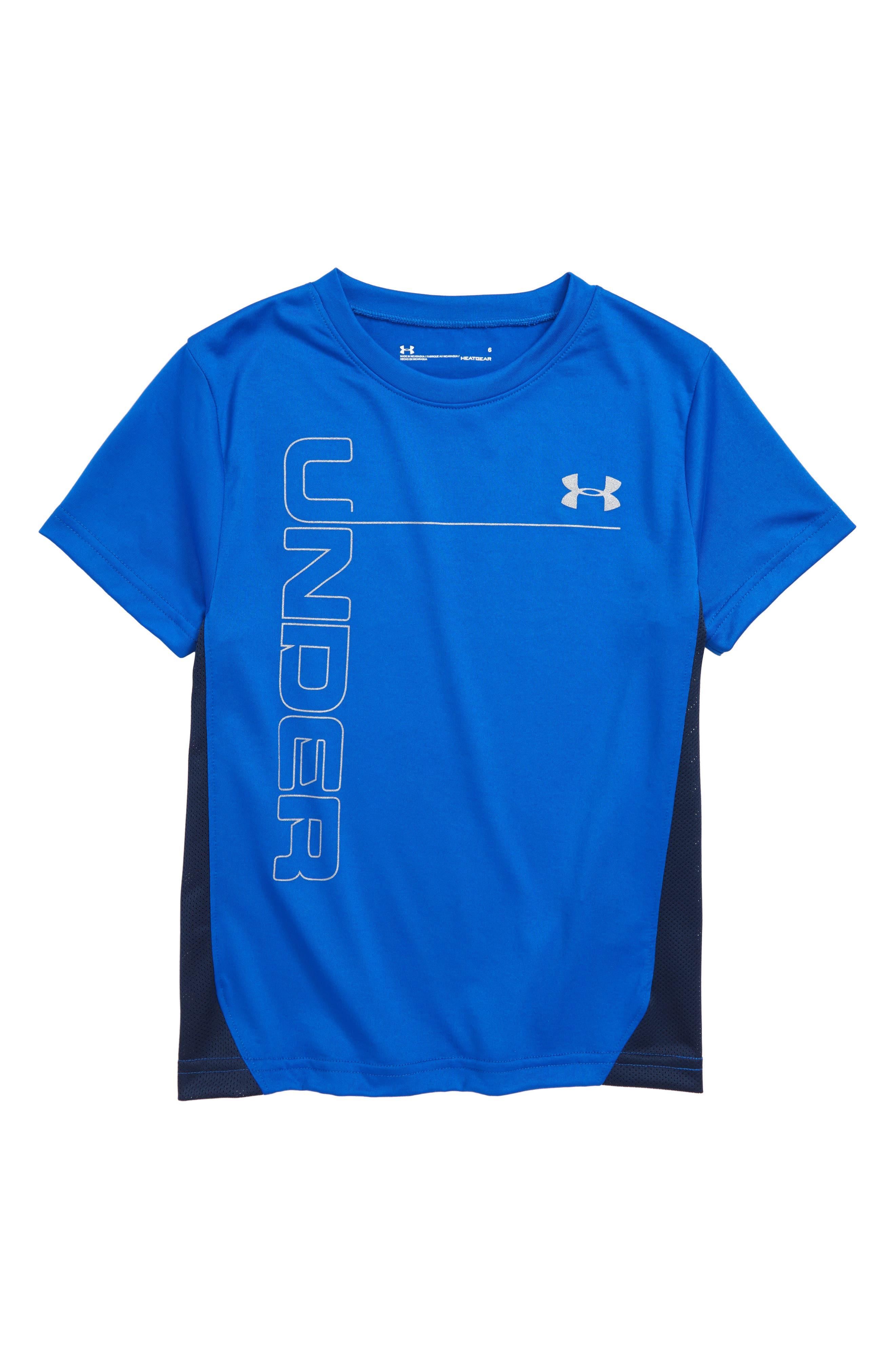 Mesh Tech HeatGear<sup>®</sup> T-Shirt,                             Main thumbnail 1, color,                             Ultra Blue