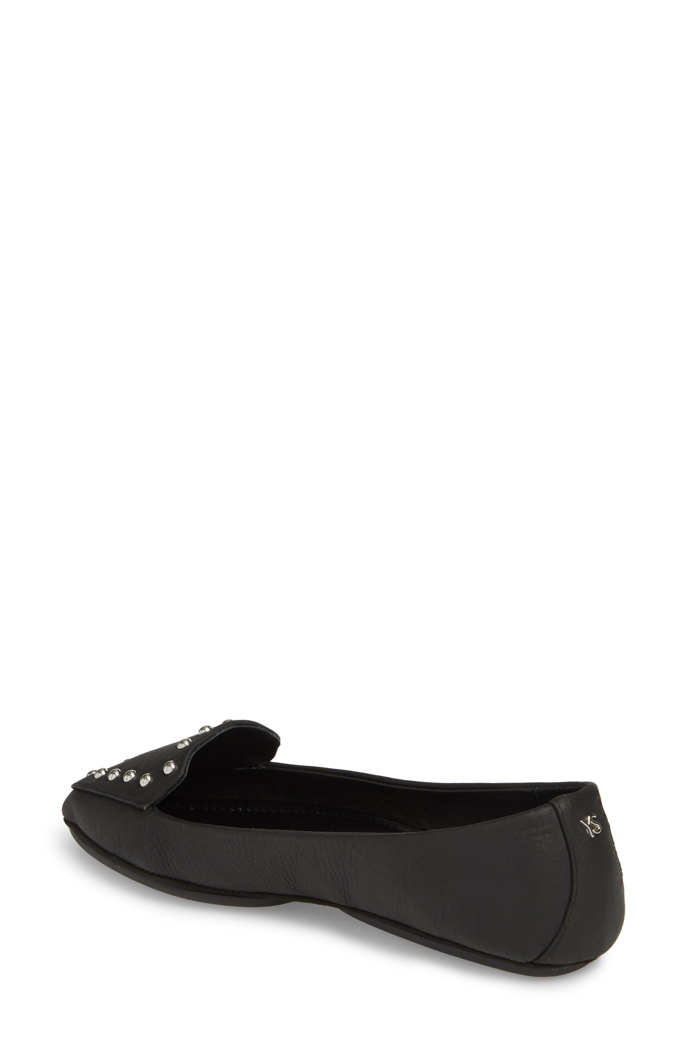 Vera Loafer,                             Alternate thumbnail 2, color,                             Black Stud Leather