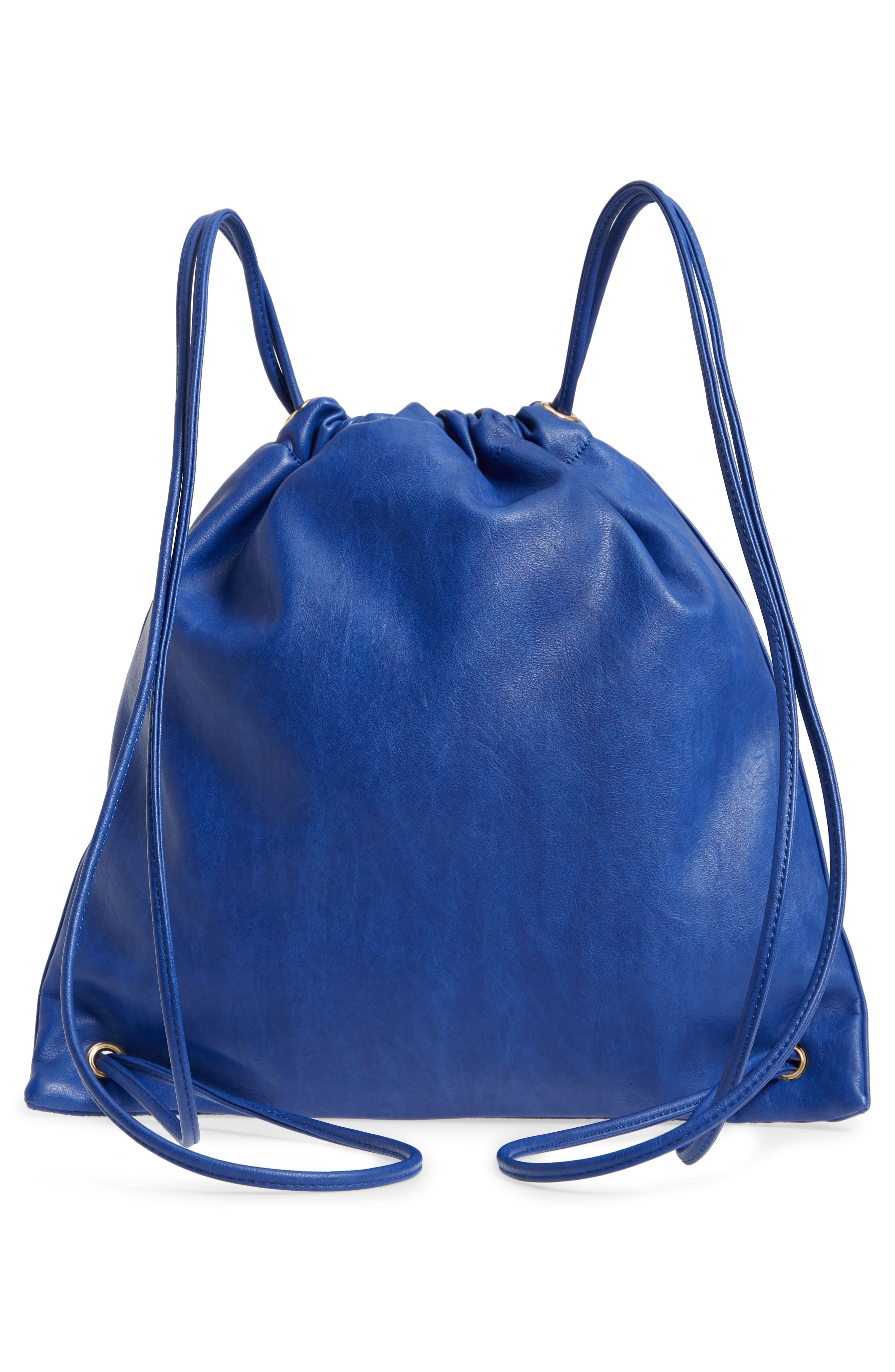 Perforated Double Zip Backpack,                             Alternate thumbnail 3, color,                             Cobalt