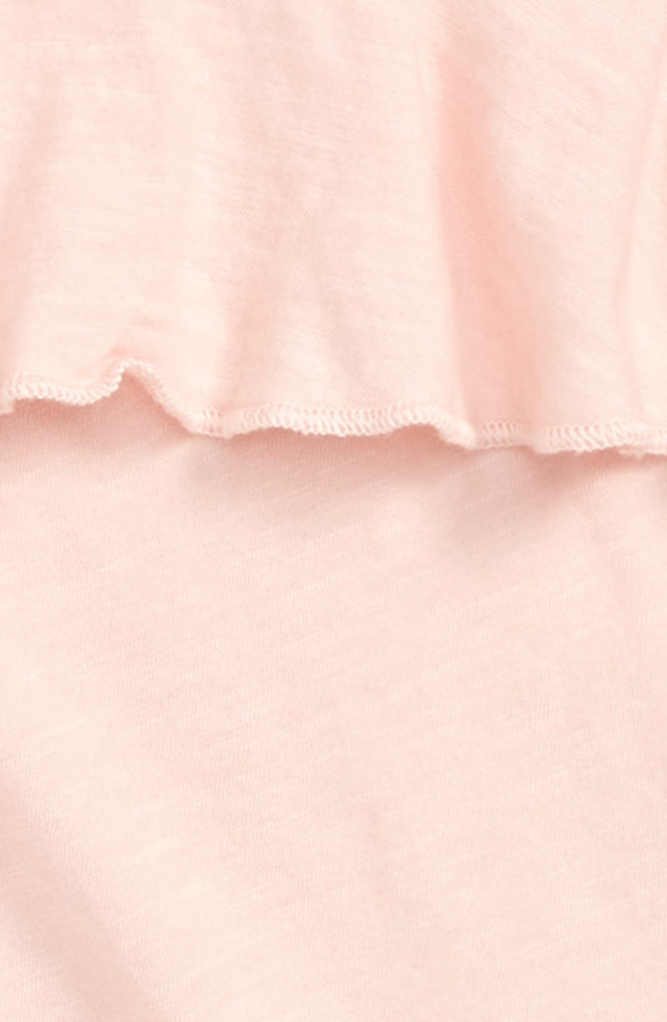 Ruffle Front Tee,                             Alternate thumbnail 2, color,                             Pink Chintz