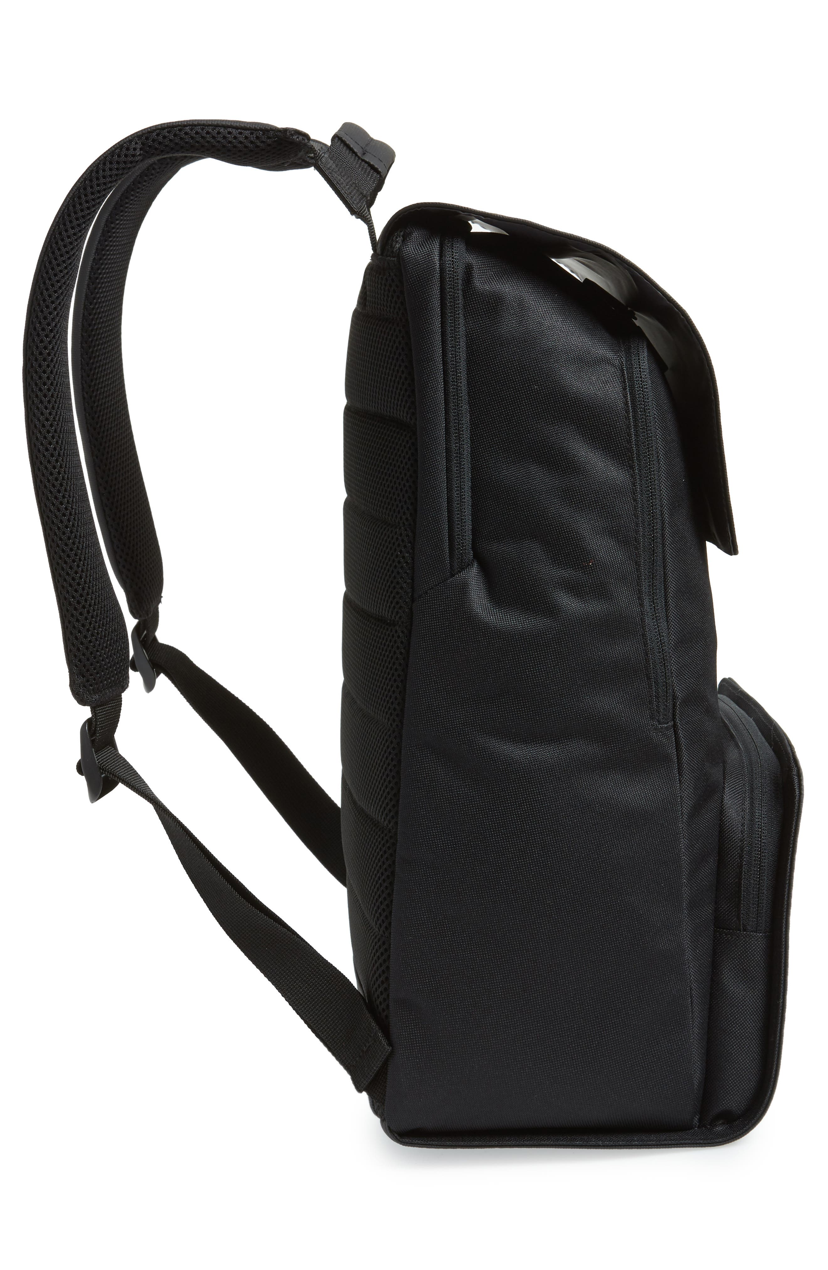 Nomad Water Resistant Backpack,                             Alternate thumbnail 5, color,                             Black