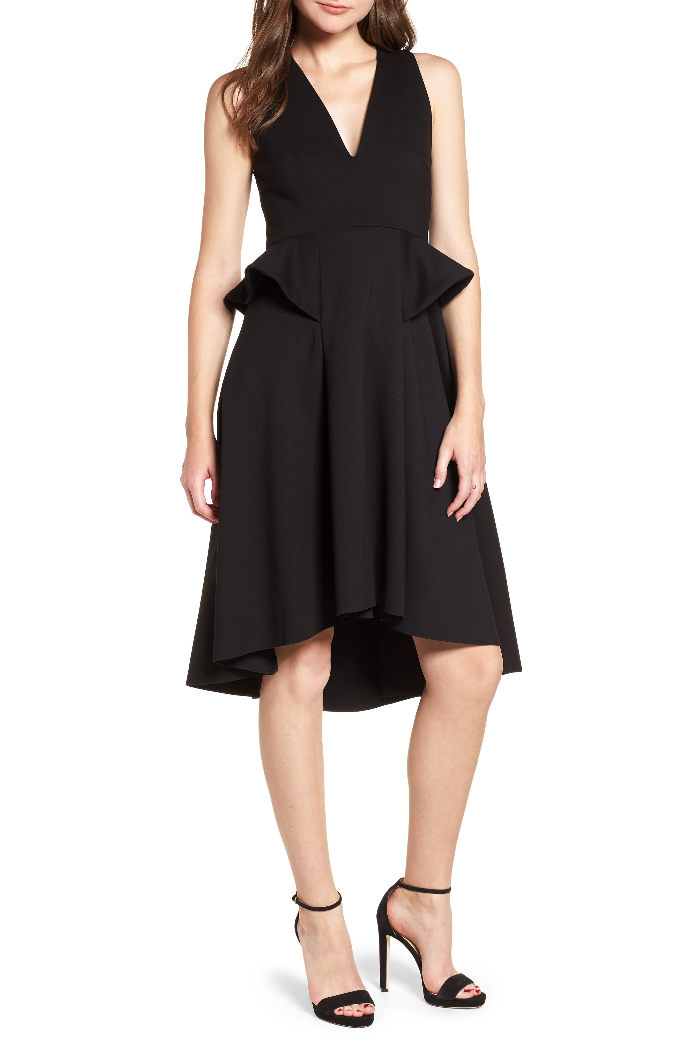 Rapture Ruffle Dress,                         Main,                         color, Black