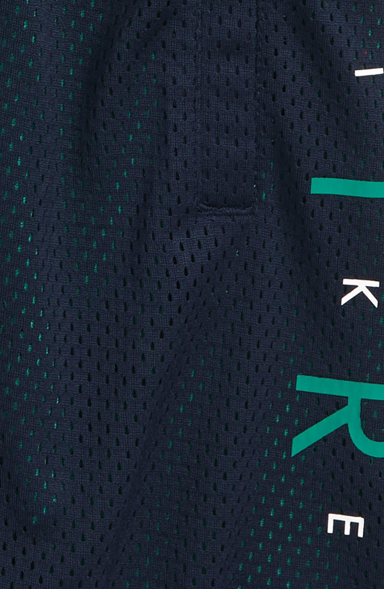 Sportswear Air Knit Shorts,                             Alternate thumbnail 2, color,                             Obsidian/ Green Noise