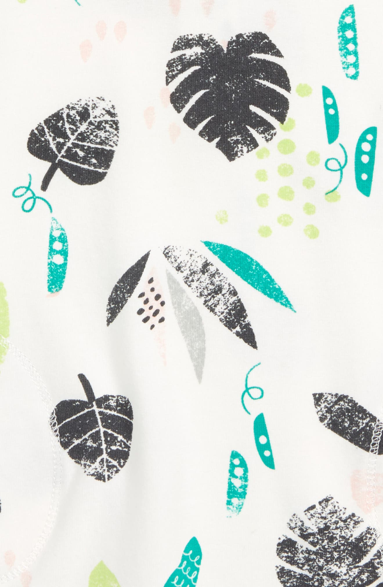 Leaf Print Dress,                             Alternate thumbnail 2, color,                             Off White