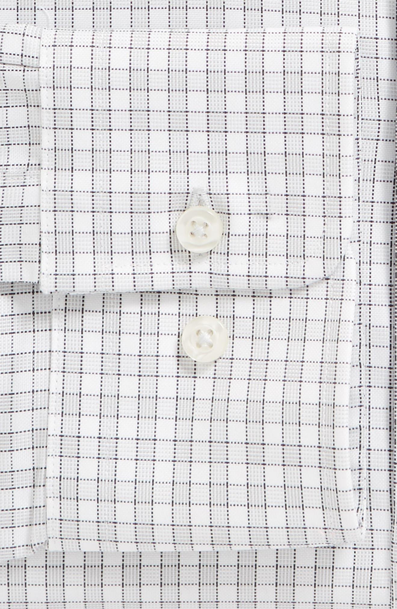 Regular Fit Check Dress Shirt,                             Alternate thumbnail 5, color,                             Gray