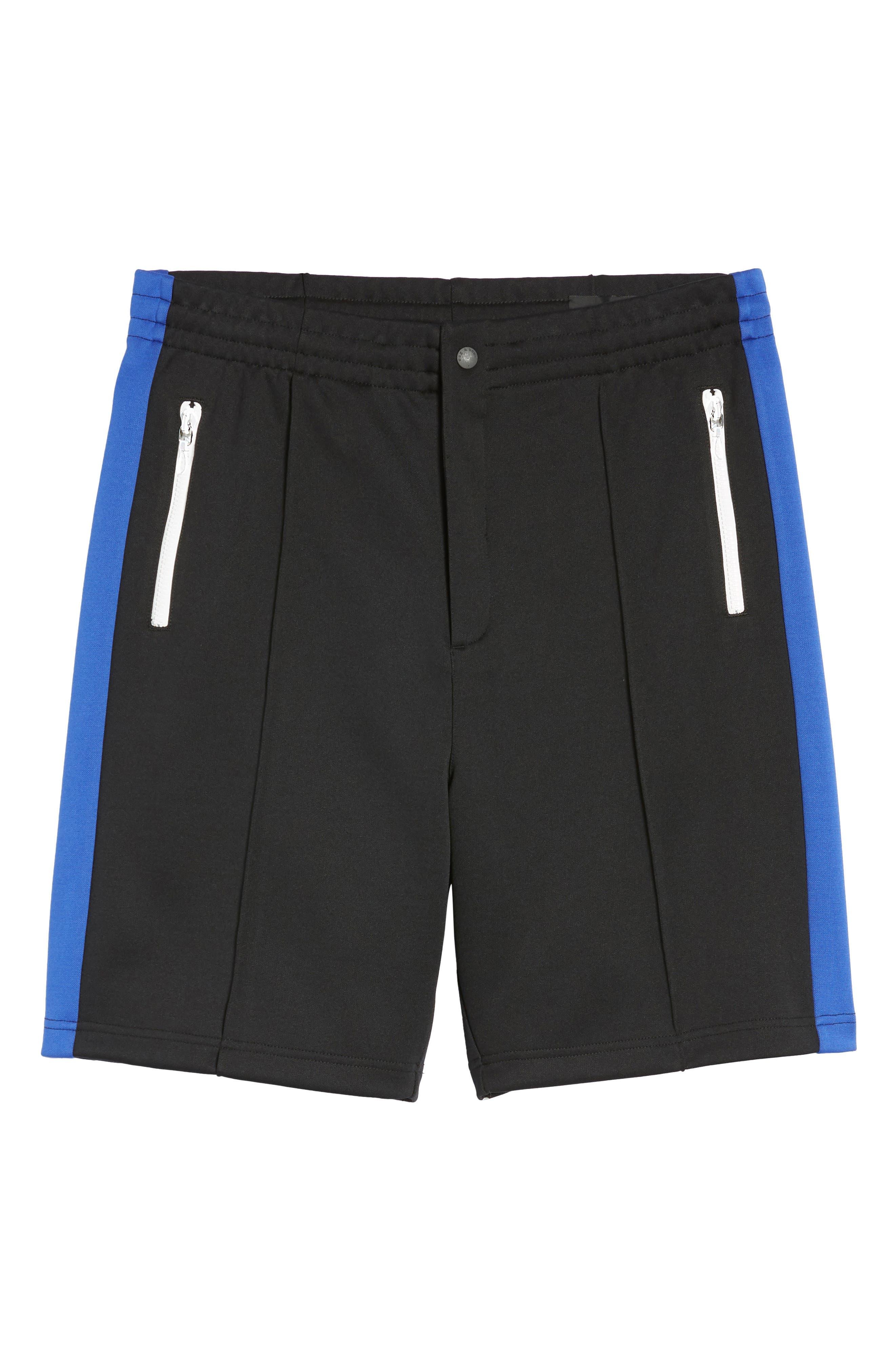 Stripe Shorts,                             Alternate thumbnail 6, color,                             Blue/ White/ Black
