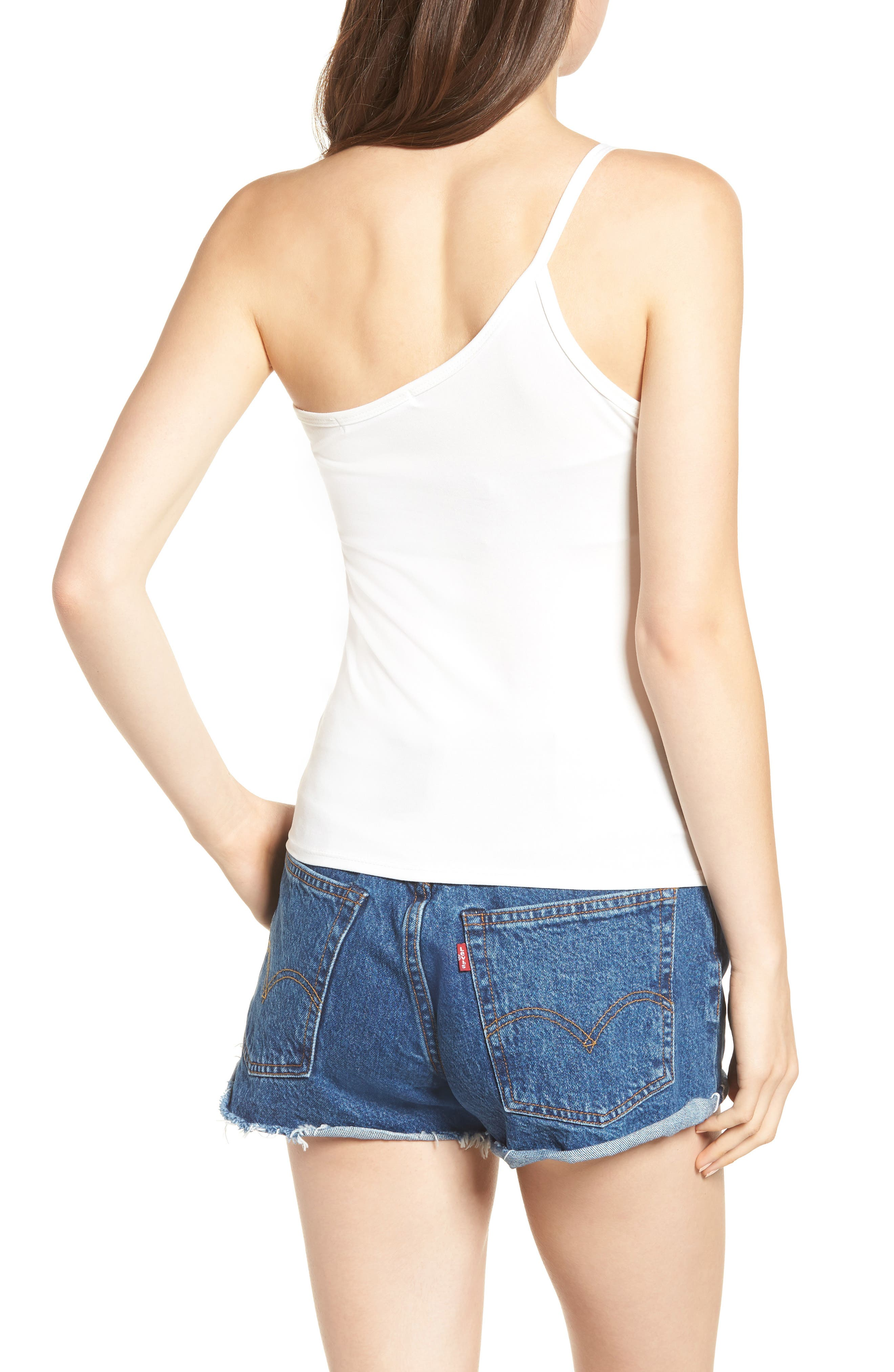 Love Is One-Shoulder Camisole,                             Alternate thumbnail 2, color,                             Ivory