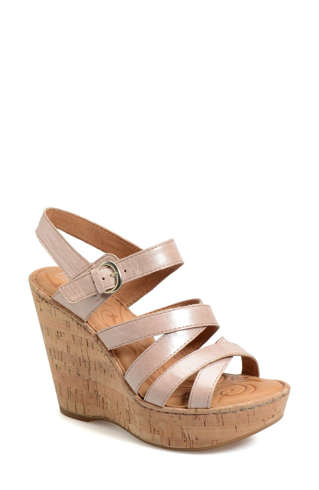 Børn 'Zela' Strappy Wedge Sandal (Women)