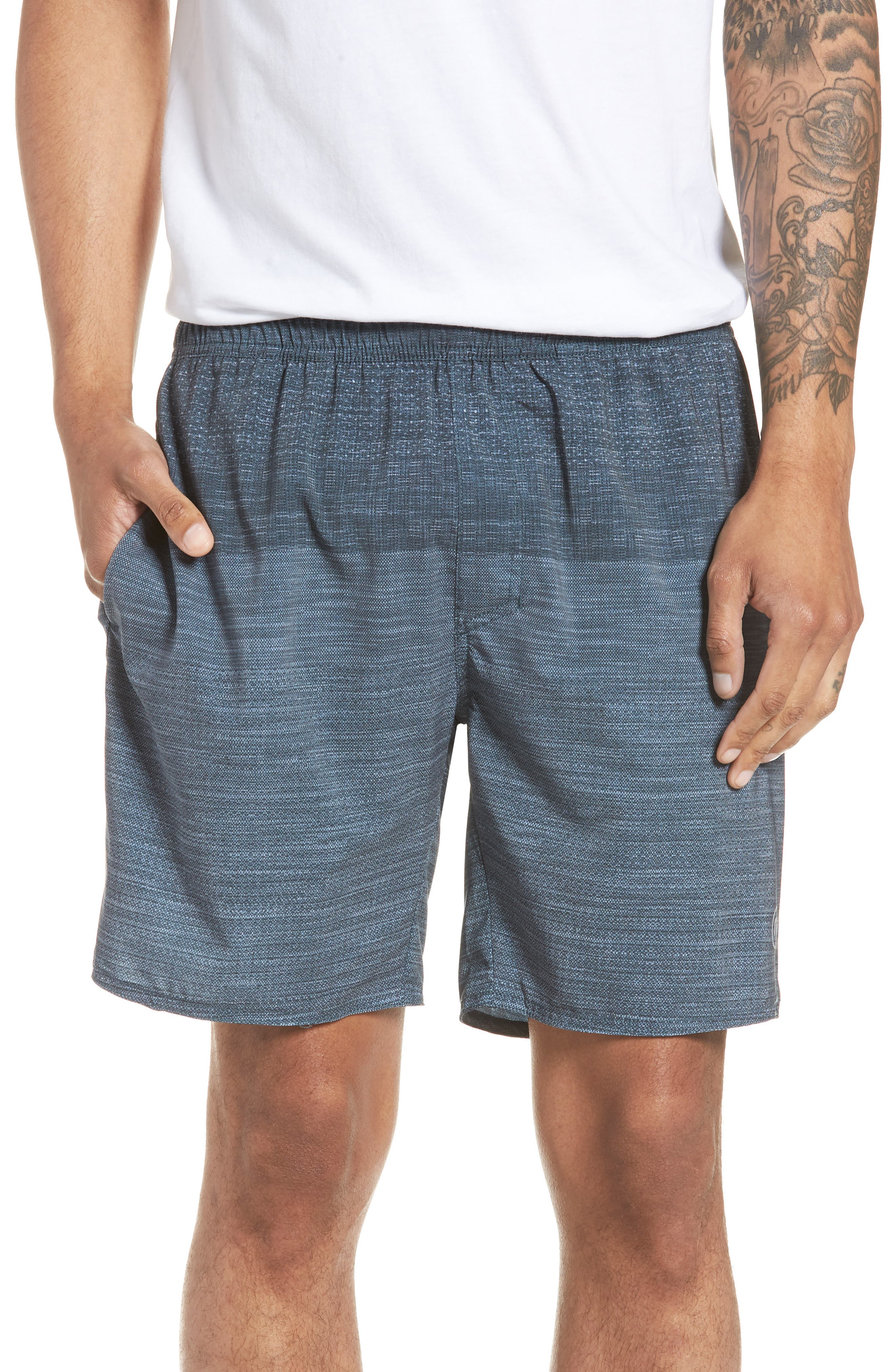 Tempo Performance Shorts,                             Main thumbnail 1, color,                             Heather Quiet Shade