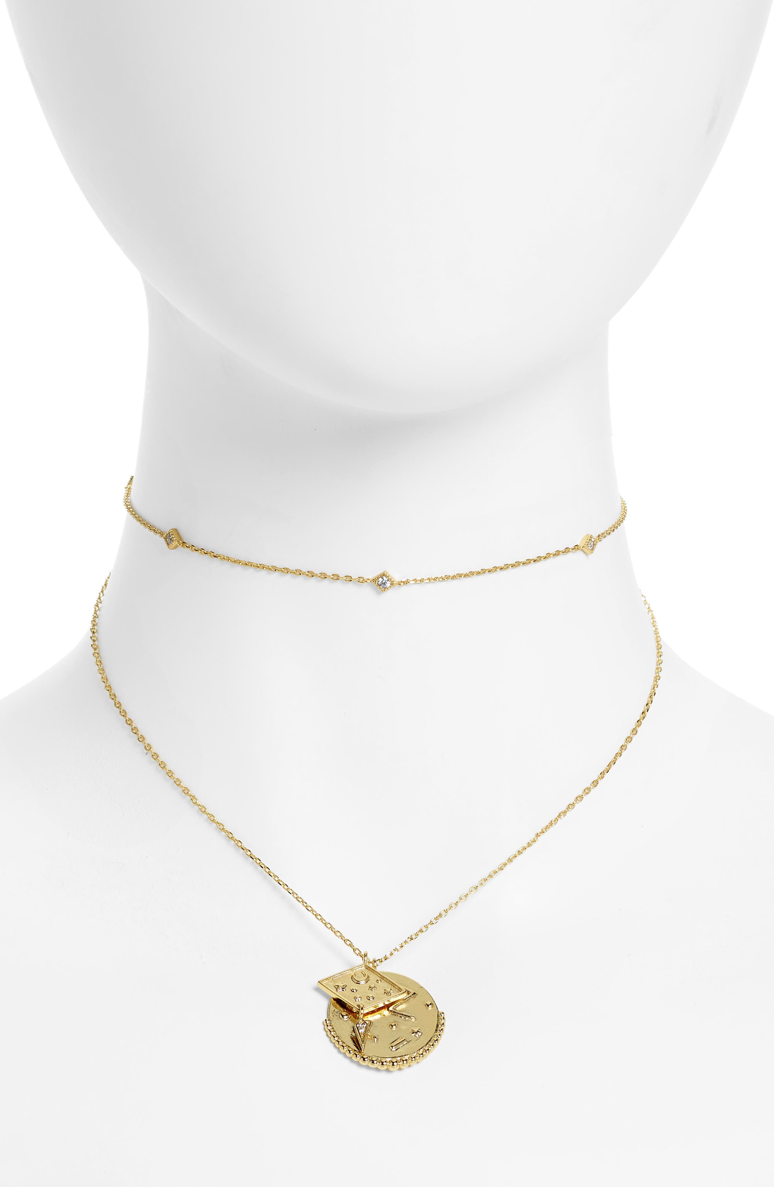 Ines Double Necklace,                         Main,                         color, Gold