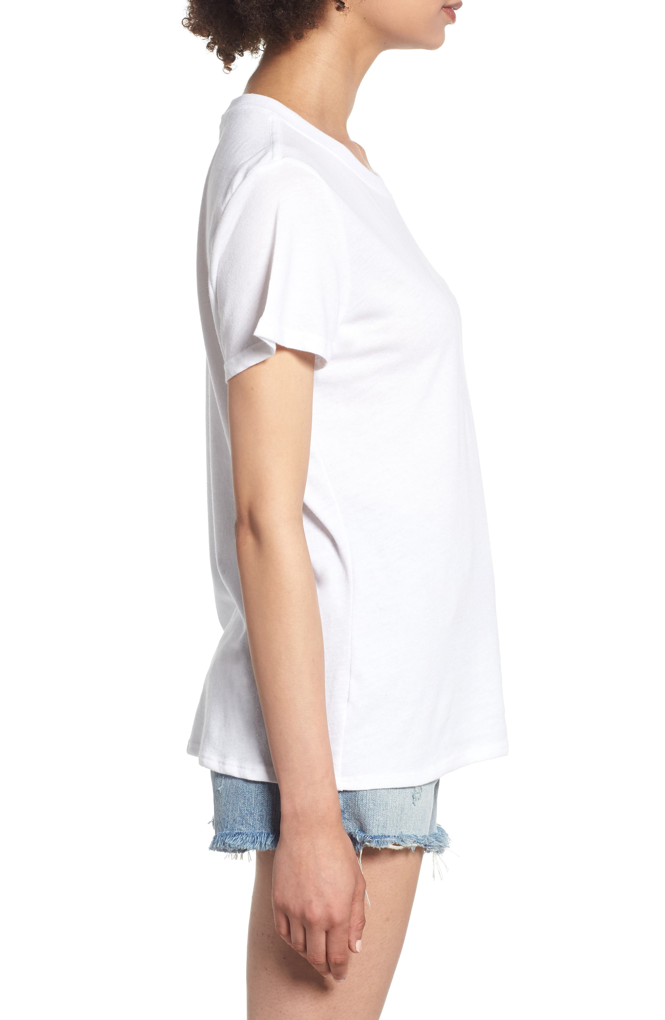 Beet It Slouched Tee,                             Alternate thumbnail 3, color,                             White