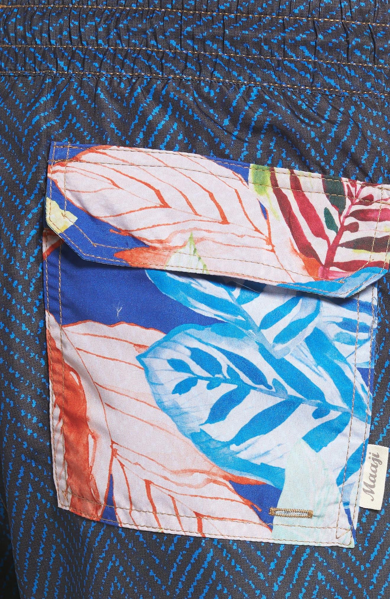 Bells Beach Swim Trunks,                             Alternate thumbnail 5, color,                             Blue