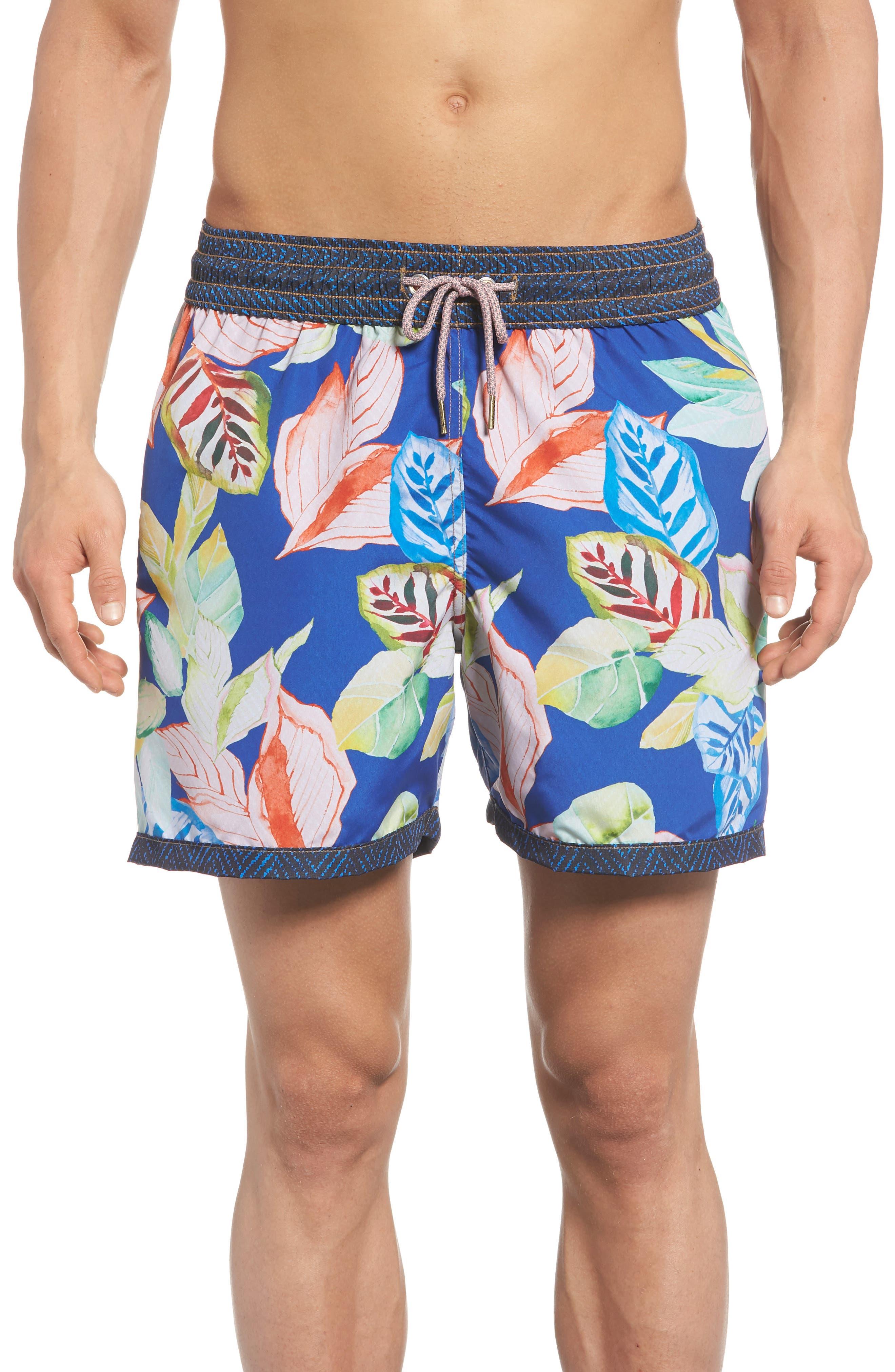 Bells Beach Swim Trunks,                             Alternate thumbnail 4, color,                             Blue
