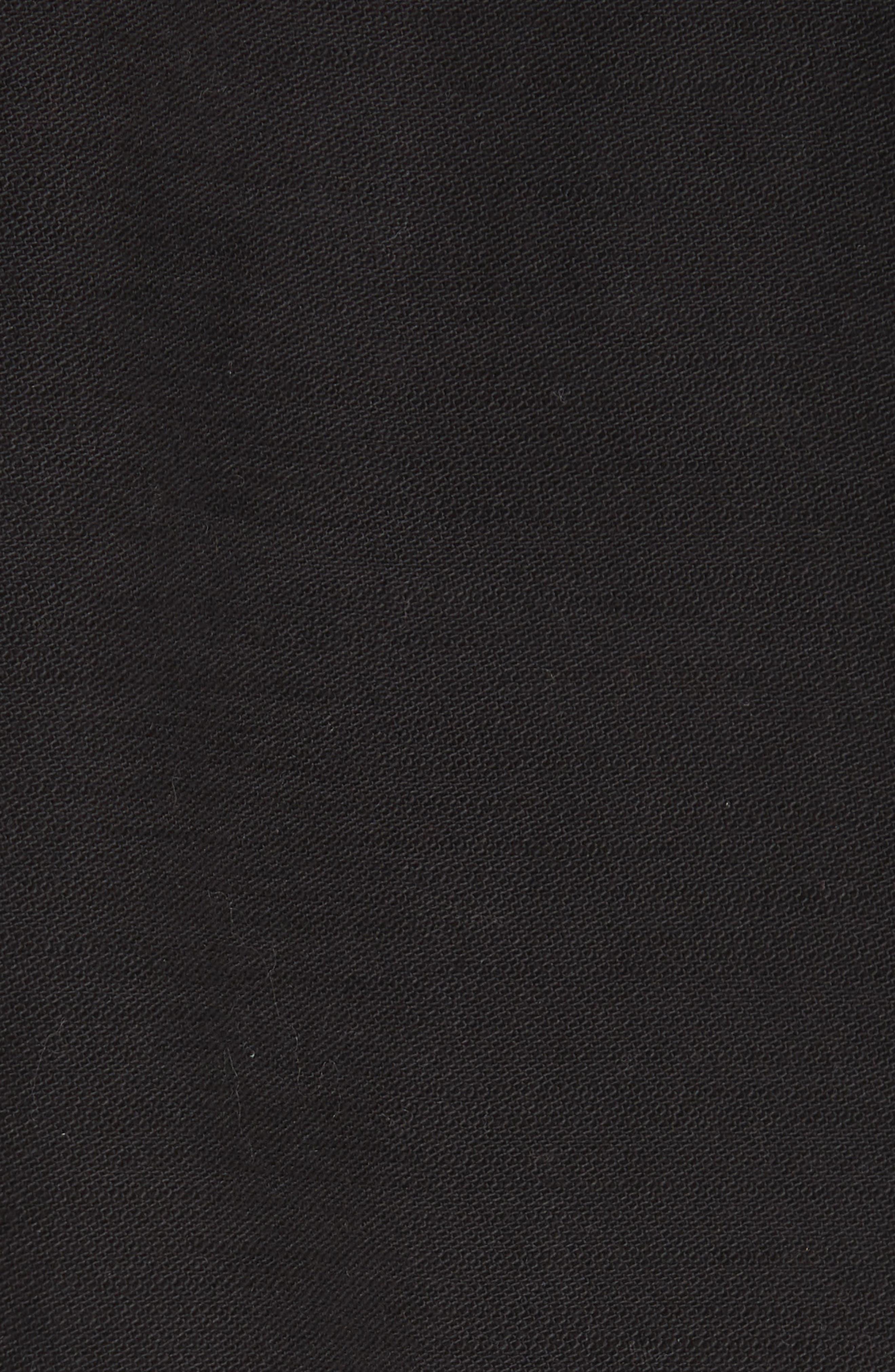 Faye Military Jacket,                             Alternate thumbnail 5, color,                             Black