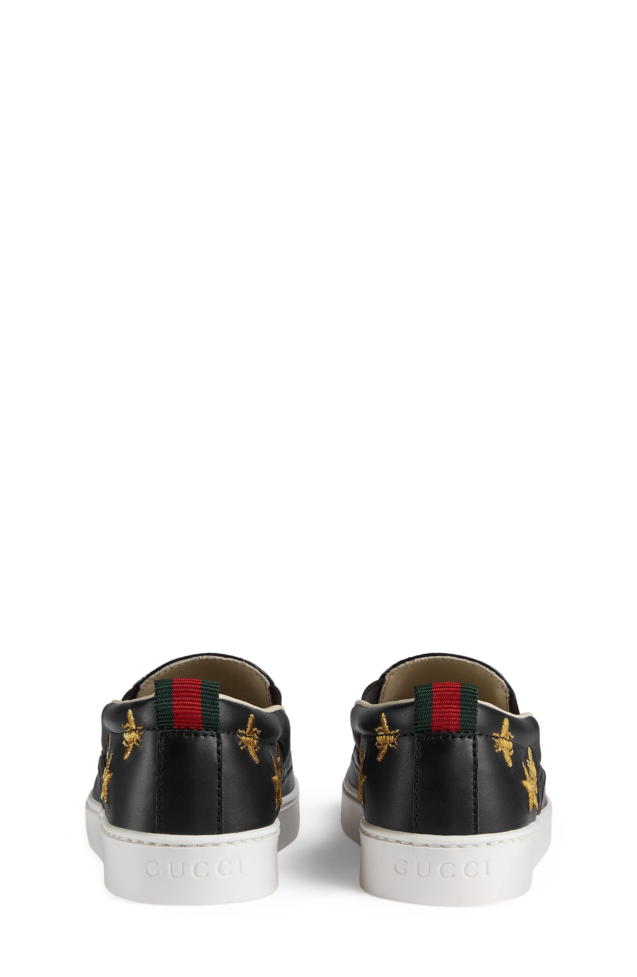 Dublin Bees and Stars Slip-On Sneaker,                             Alternate thumbnail 5, color,                             Black/Gold Stars