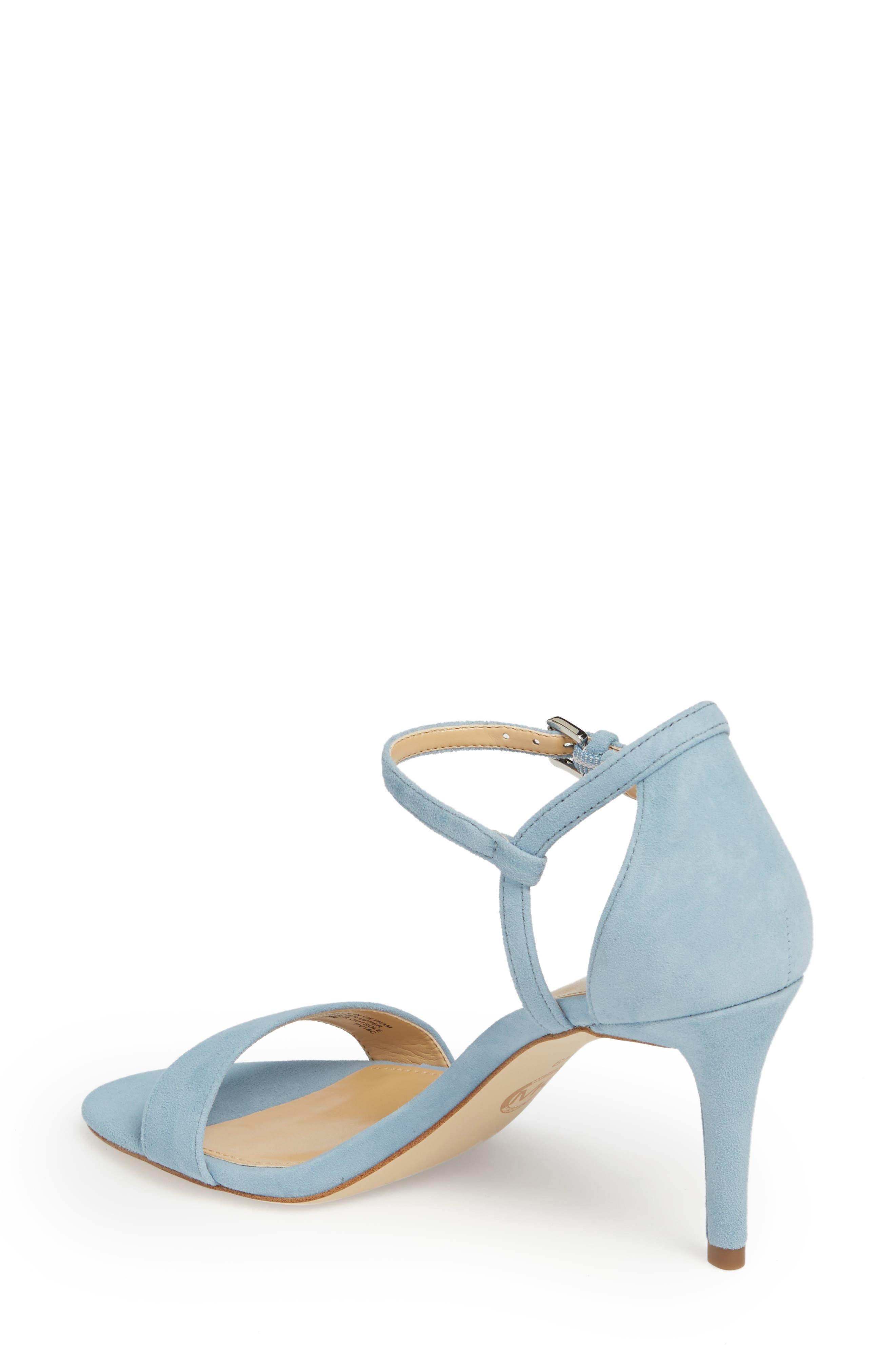 'Simone' Sandal,                             Alternate thumbnail 2, color,                             Powder Blue Suede