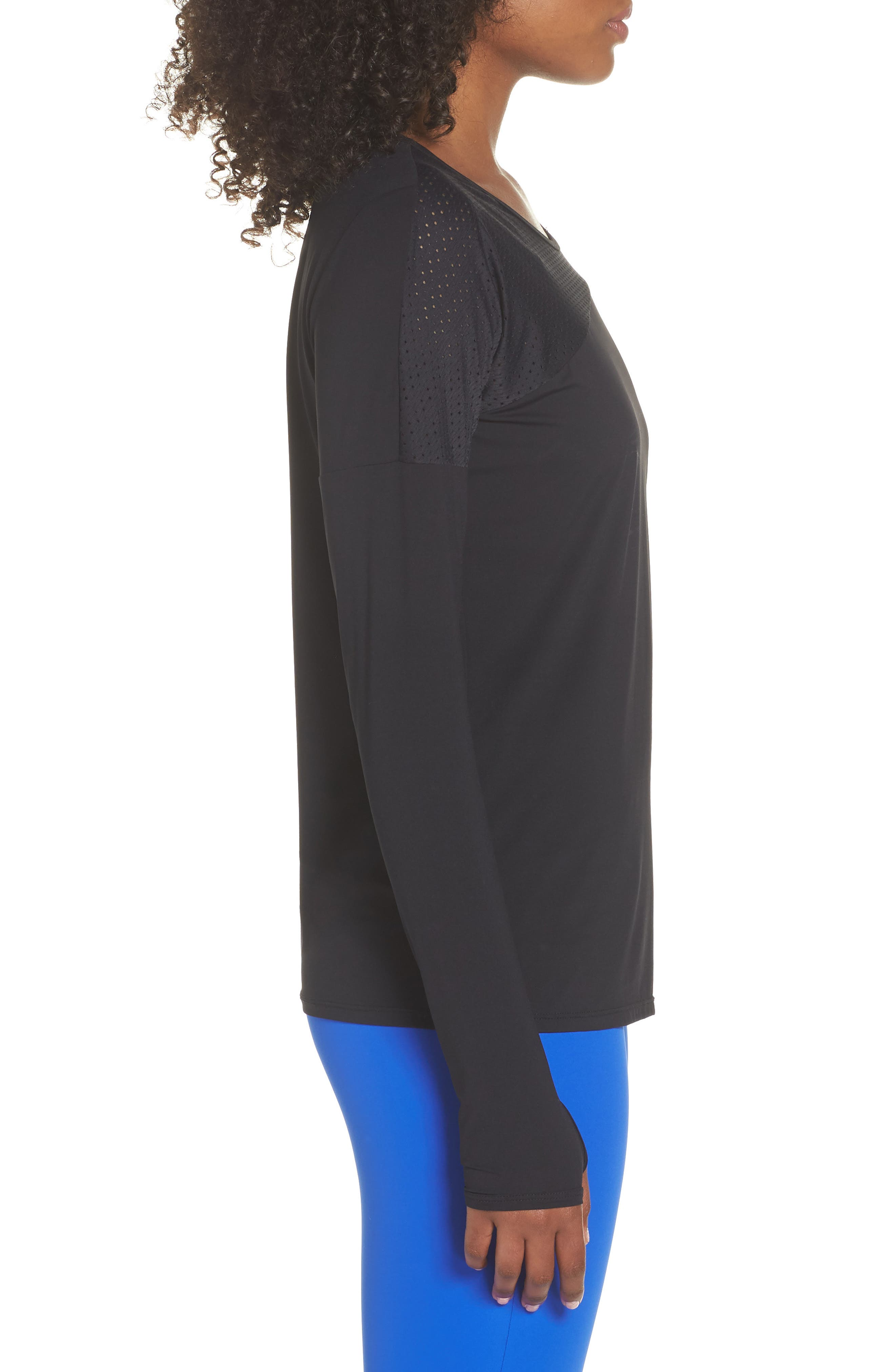 BoomBoom Athletica Easy Tunic,                             Alternate thumbnail 3, color,                             Black